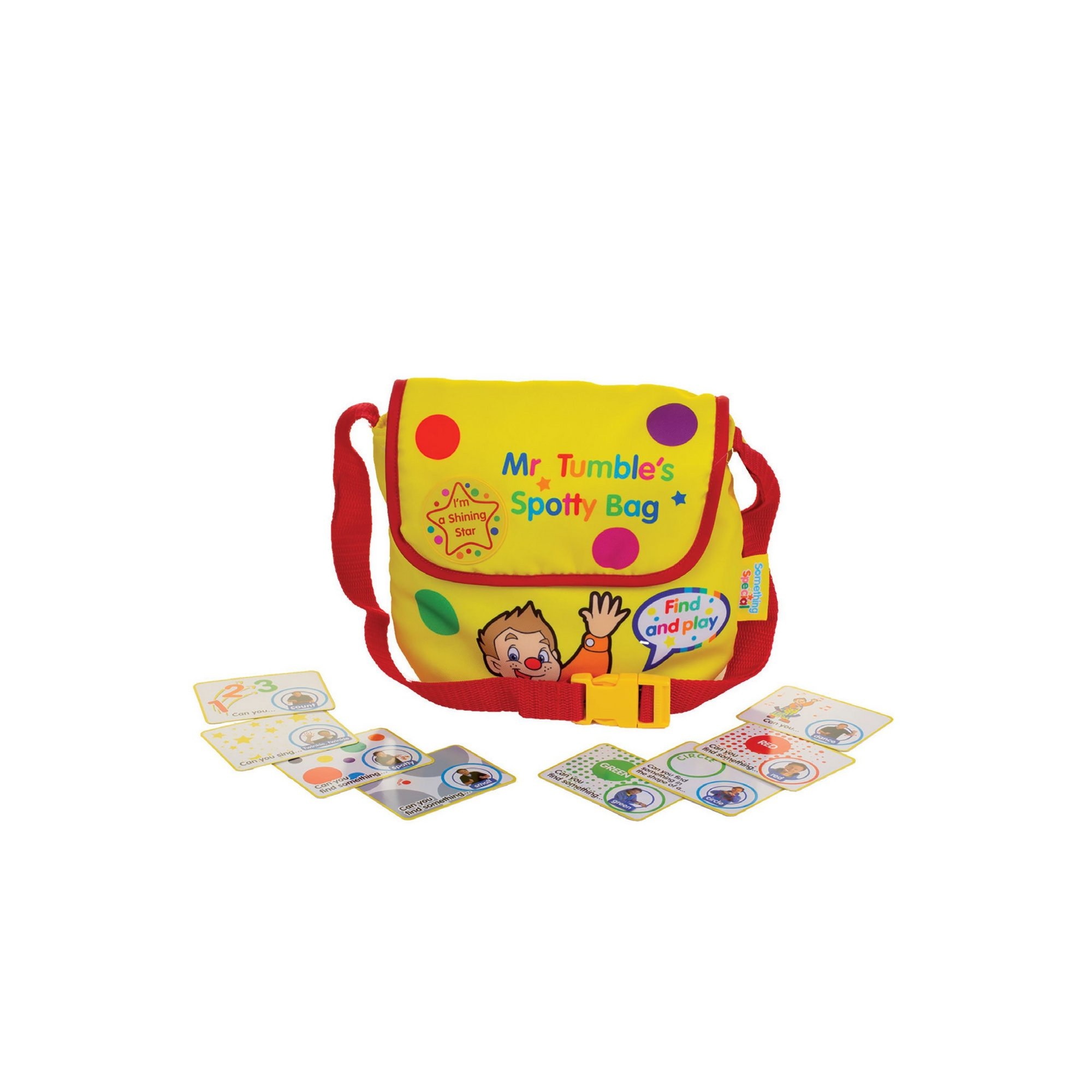 Image of Mr Tumbles Sensory Seek and Find Spotty Bag with Fun Sounds