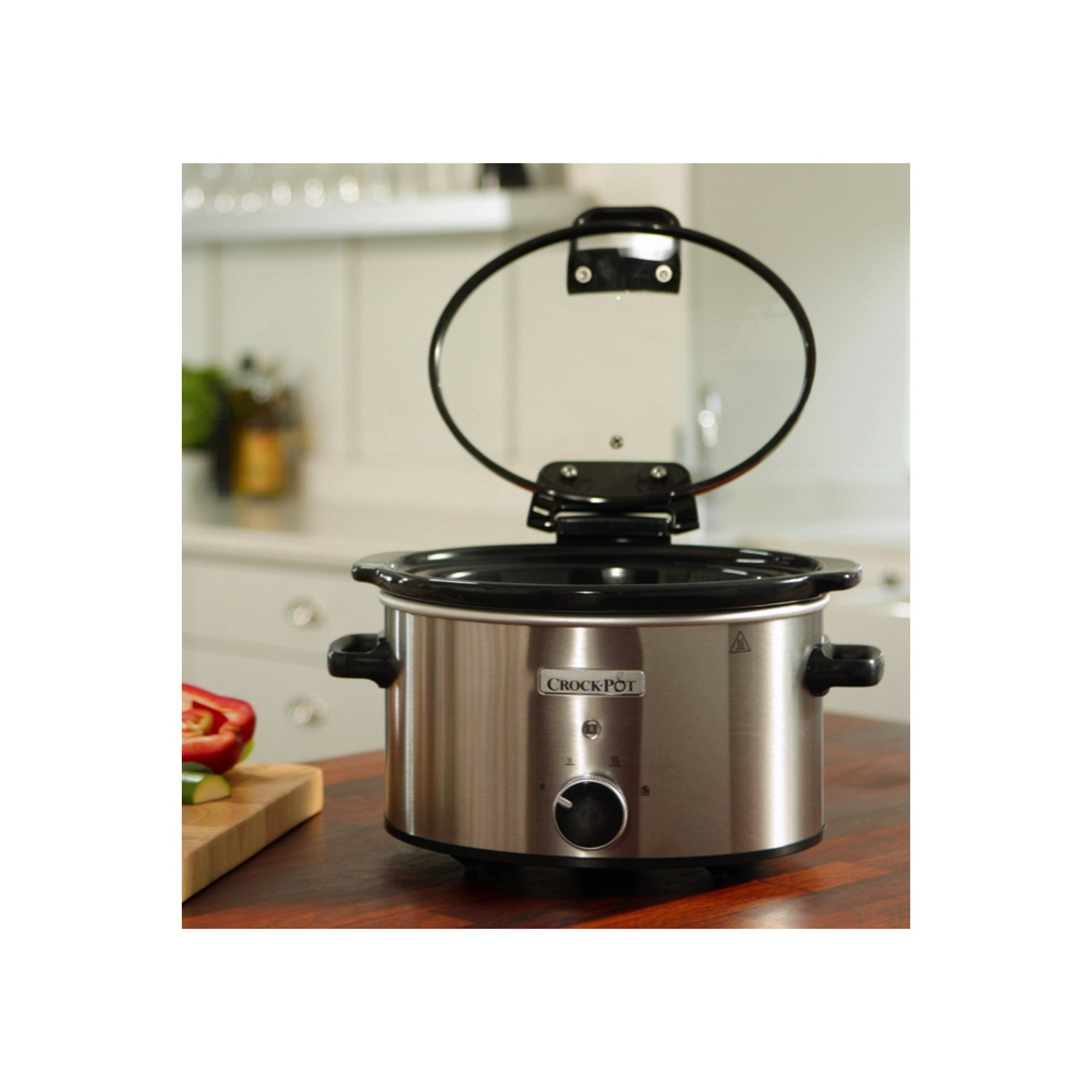 Image of Crock Pot 3.5L Slow Cooker with Hinged Lid