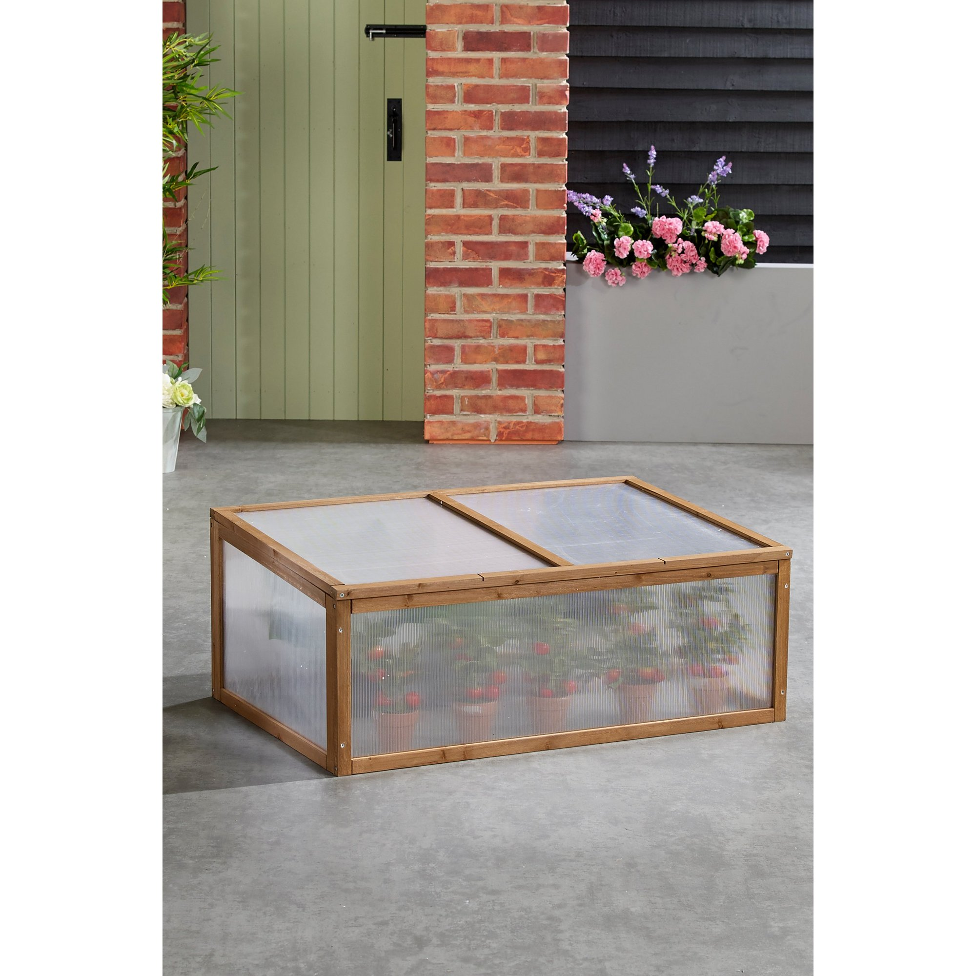 Image of Low Wooden Cold Frame Greenhouse