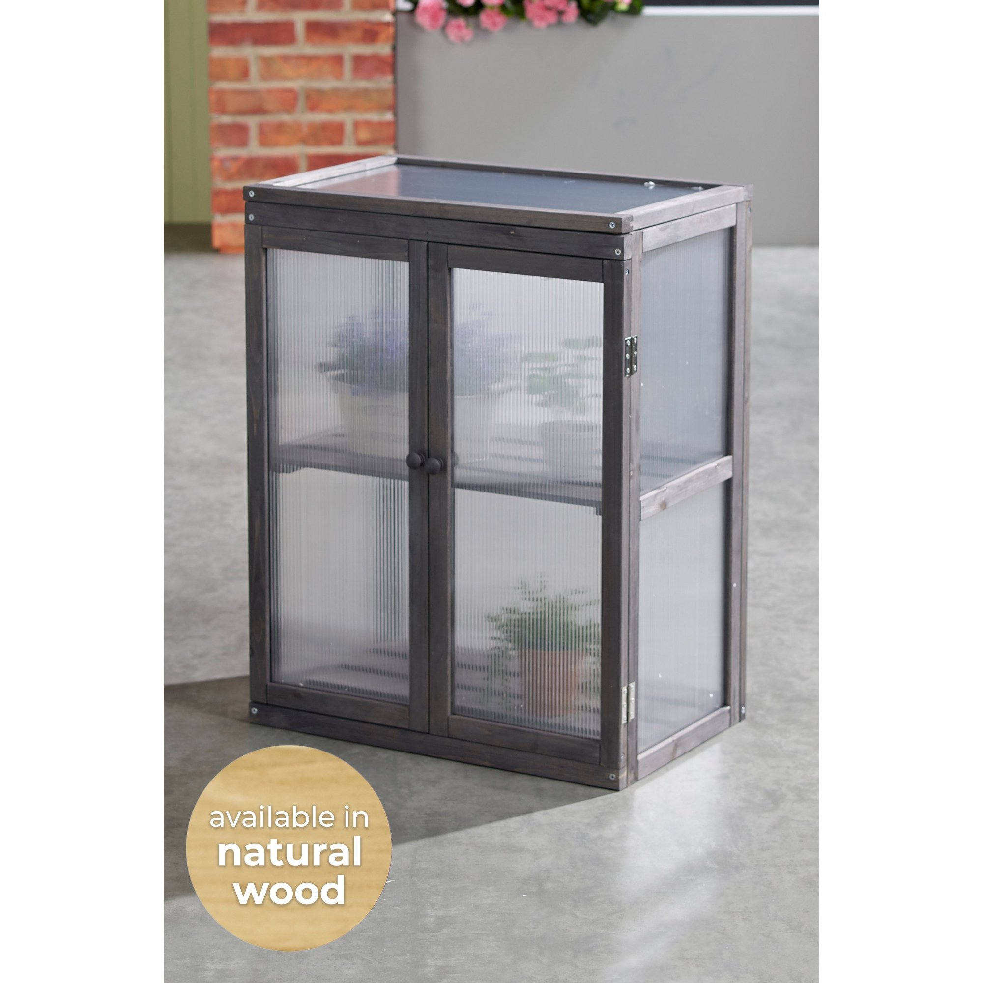 Image of Medium Cold Frame Wooden and Polycarbonate Greenhouse