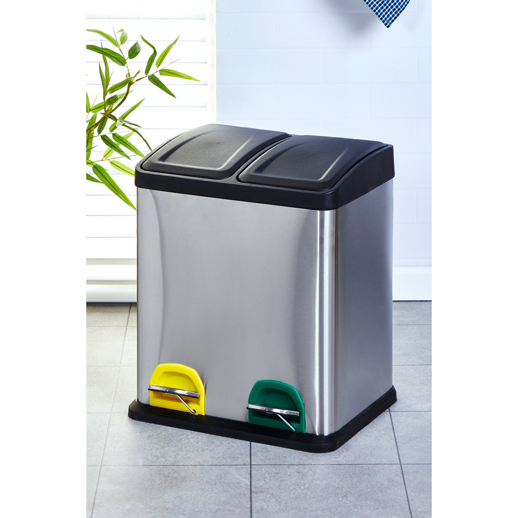 Image of 30 Litre Stainless Steel Recycle Bin