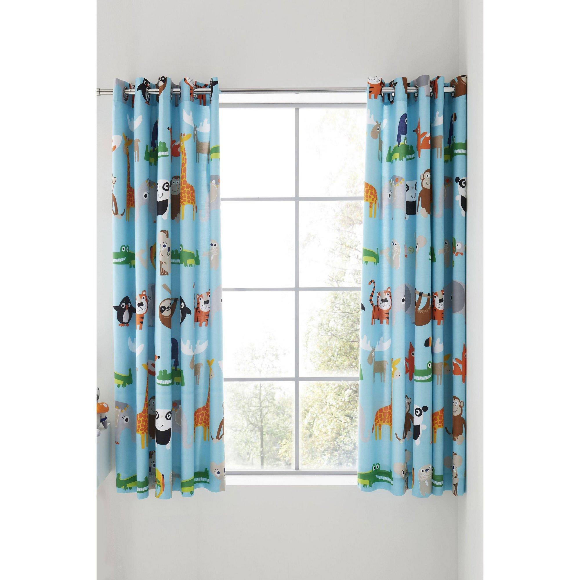 Image of Animal Adventures Eyelet Curtains
