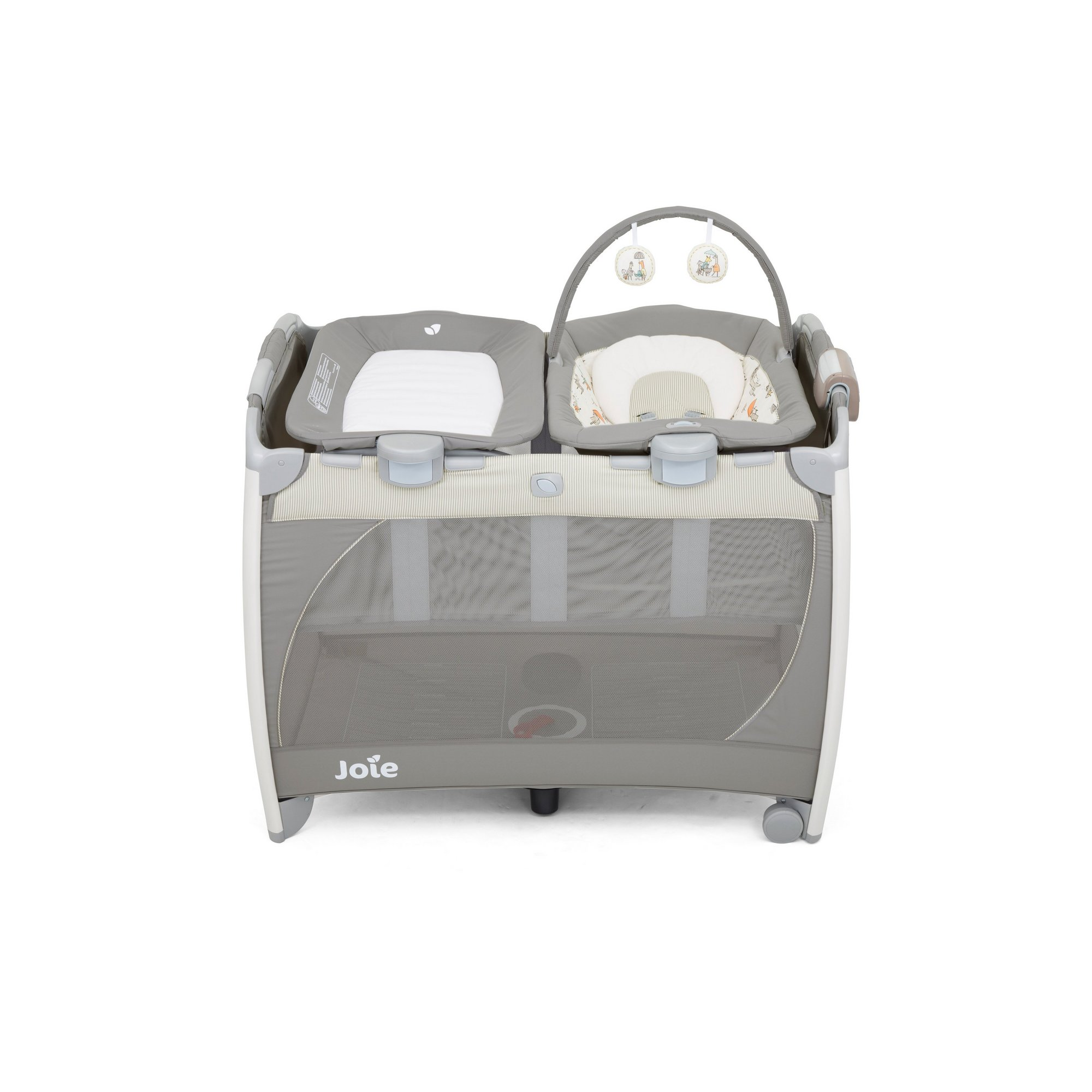 Image of Joie Excursion Change and Bounce Travel Cot - In the Rain
