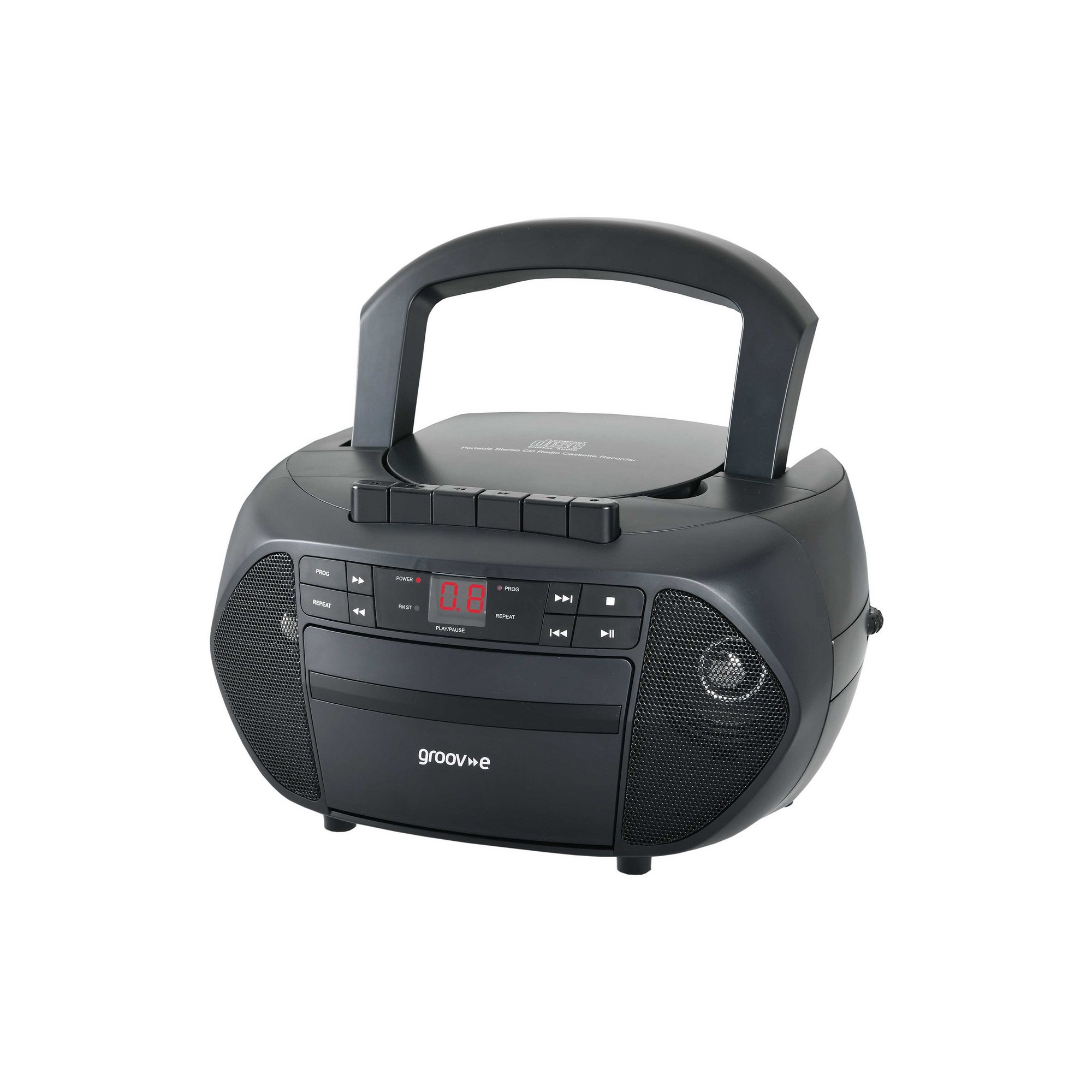 Image of Groov-e GVPS833BK Traditional Black Boombox