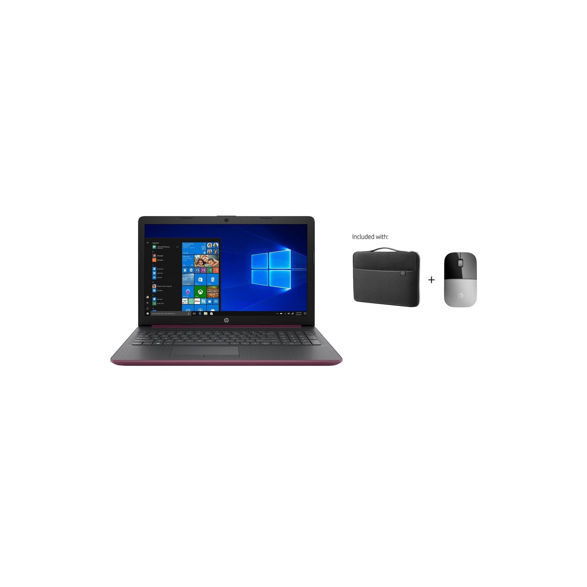 hp 15 15.6 inch intel celeron 4gb 1tb hdd fhd windows 10 laptop a...