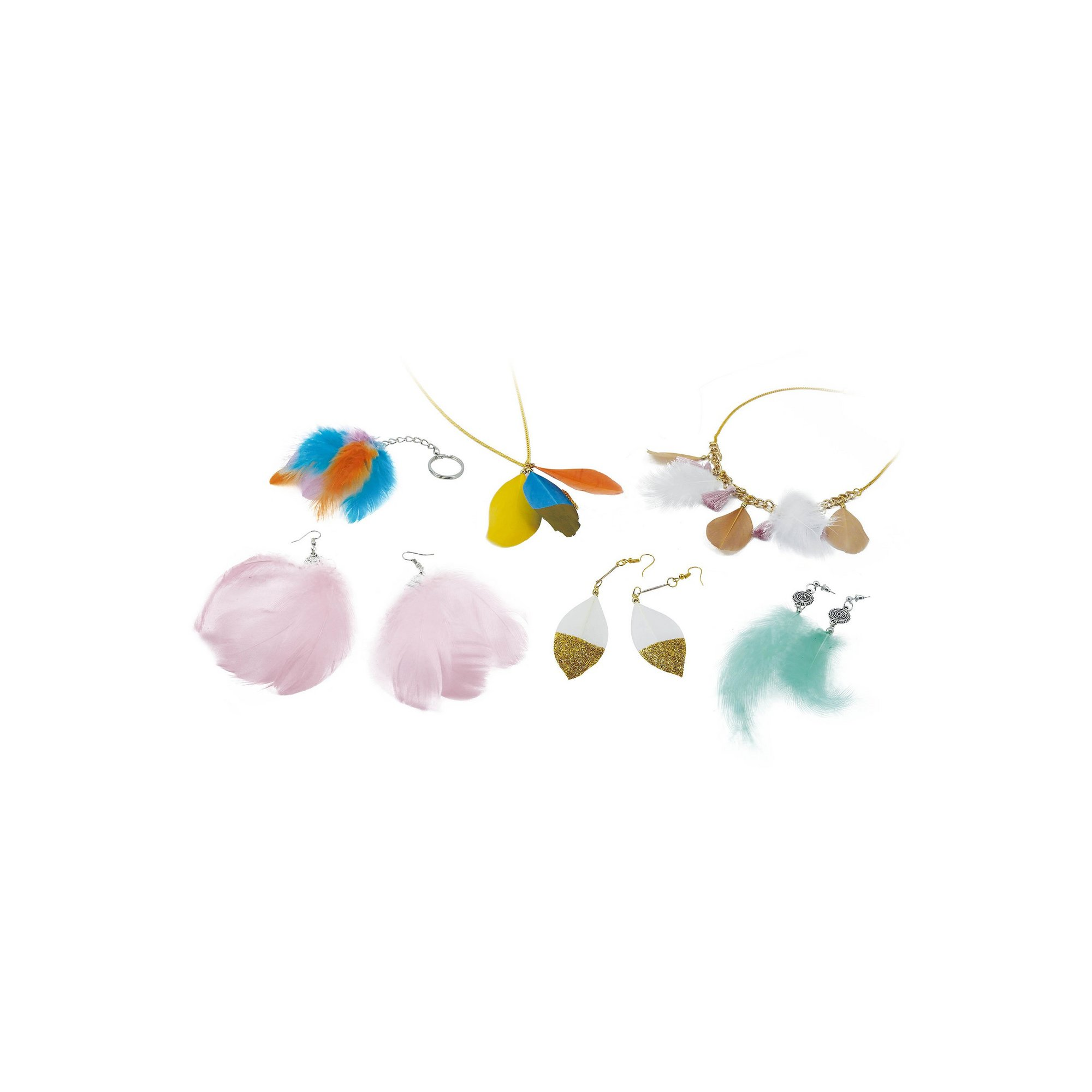 Image of Be Teens Feather Jewellery Set