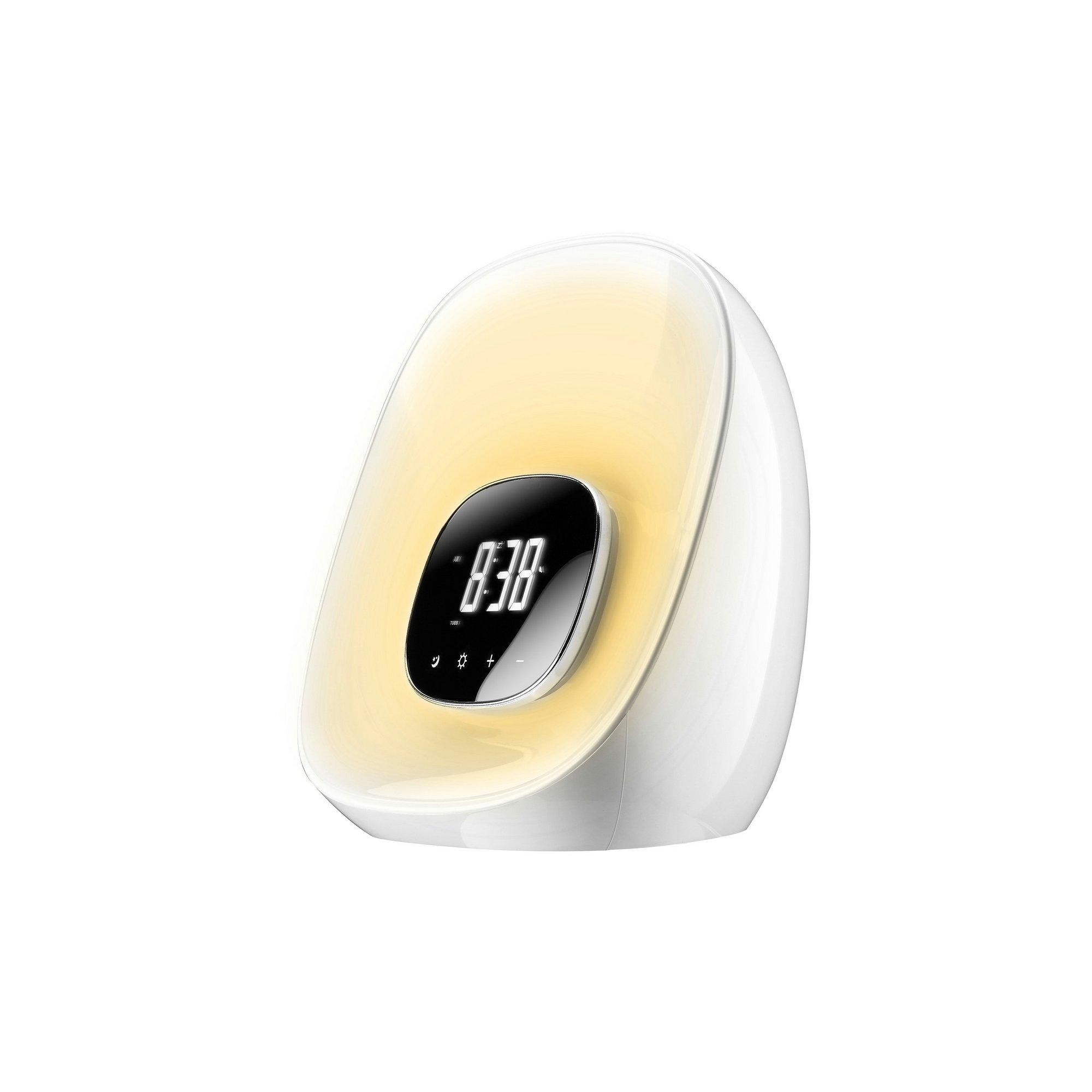 Image of Groov-e GVCR01WE Light Curve Wake Up Alarm Clock Radio