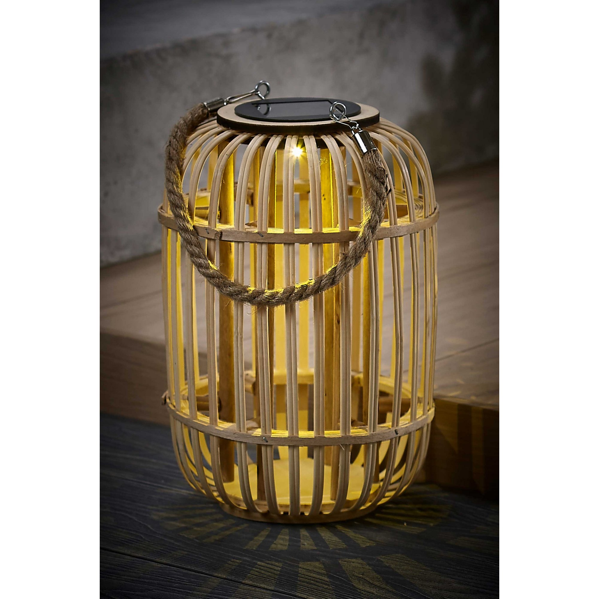 Image of Bamboo Large Solar Lantern