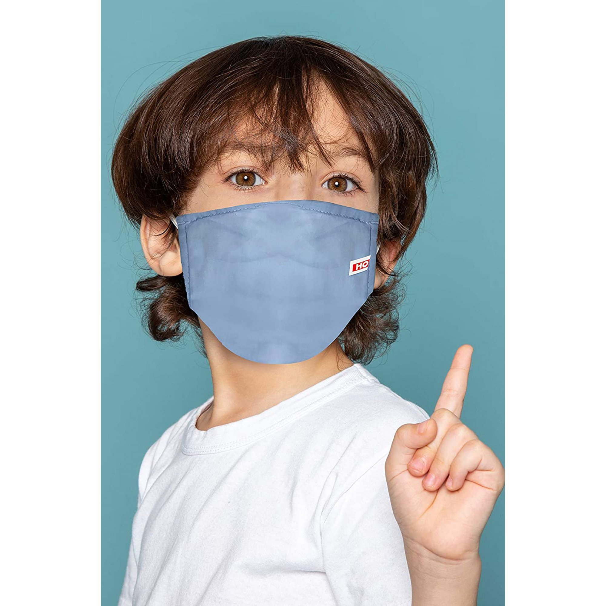Image of Pack of 2 Blue Childrens Face Mask