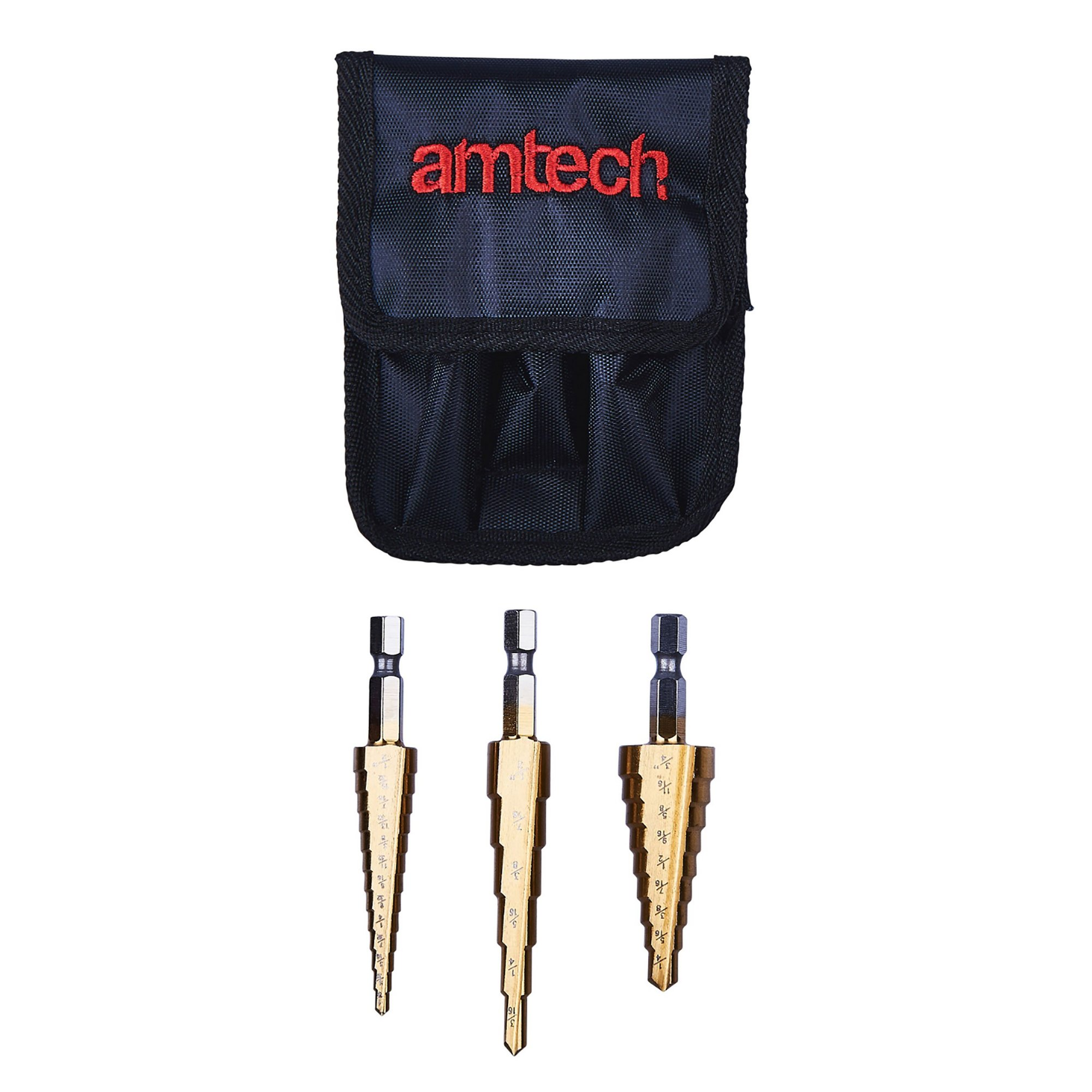Image of 3 Piece High Speed Steel Step Drill Set