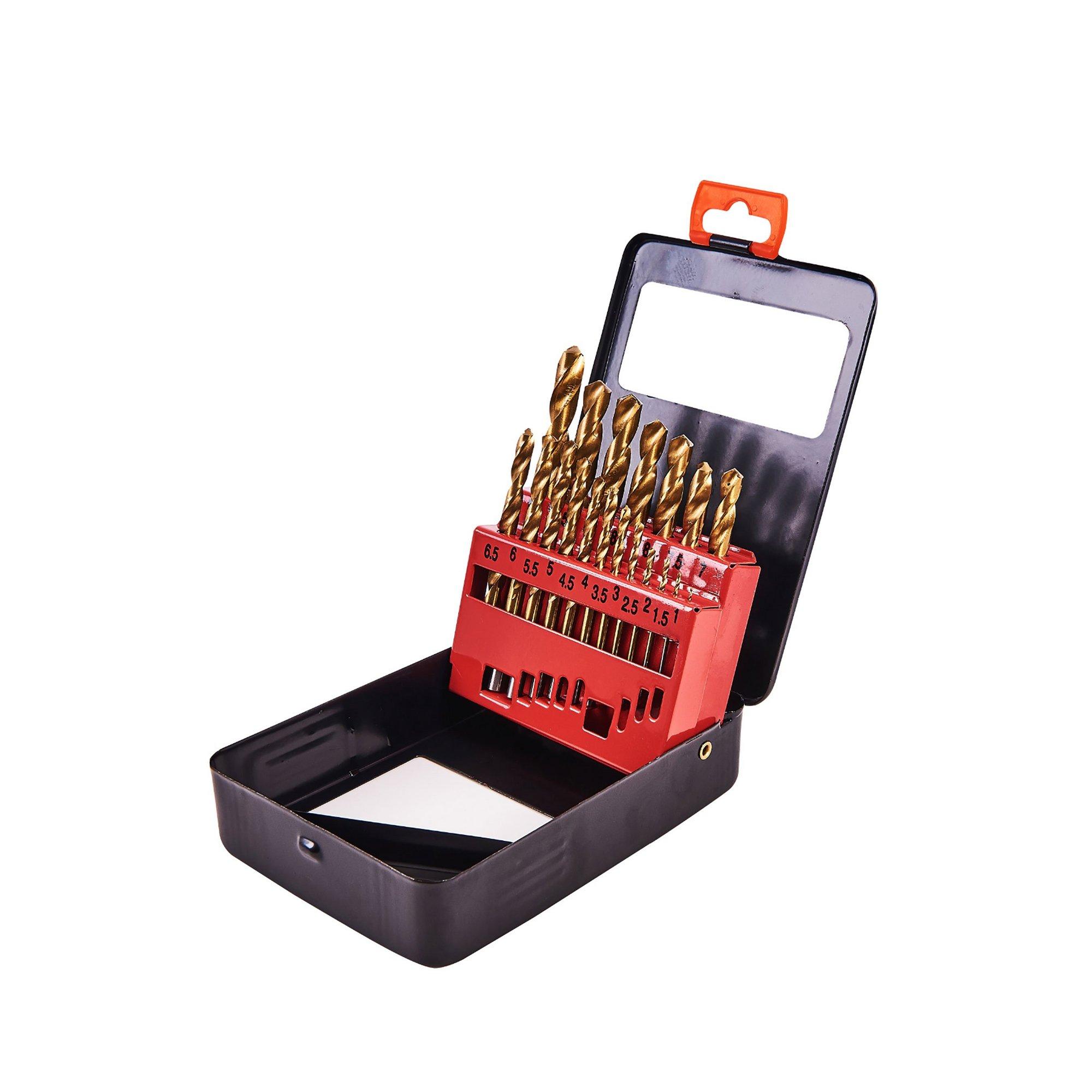 Image of 19 Piece Titanium Coated Drill Set