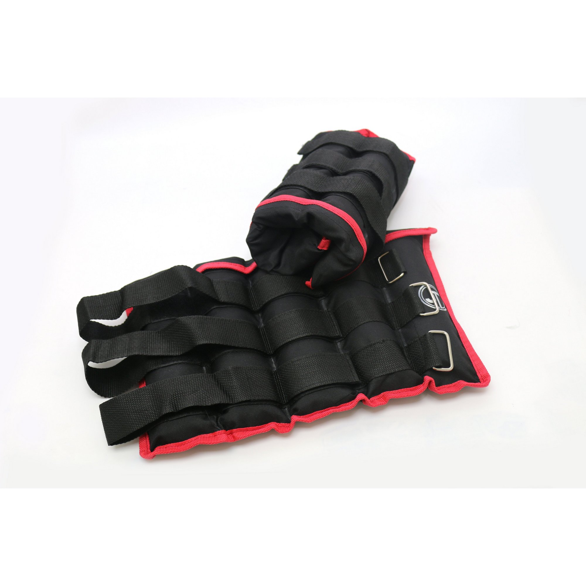 Image of Adjustable Black/Red Ankle Weights