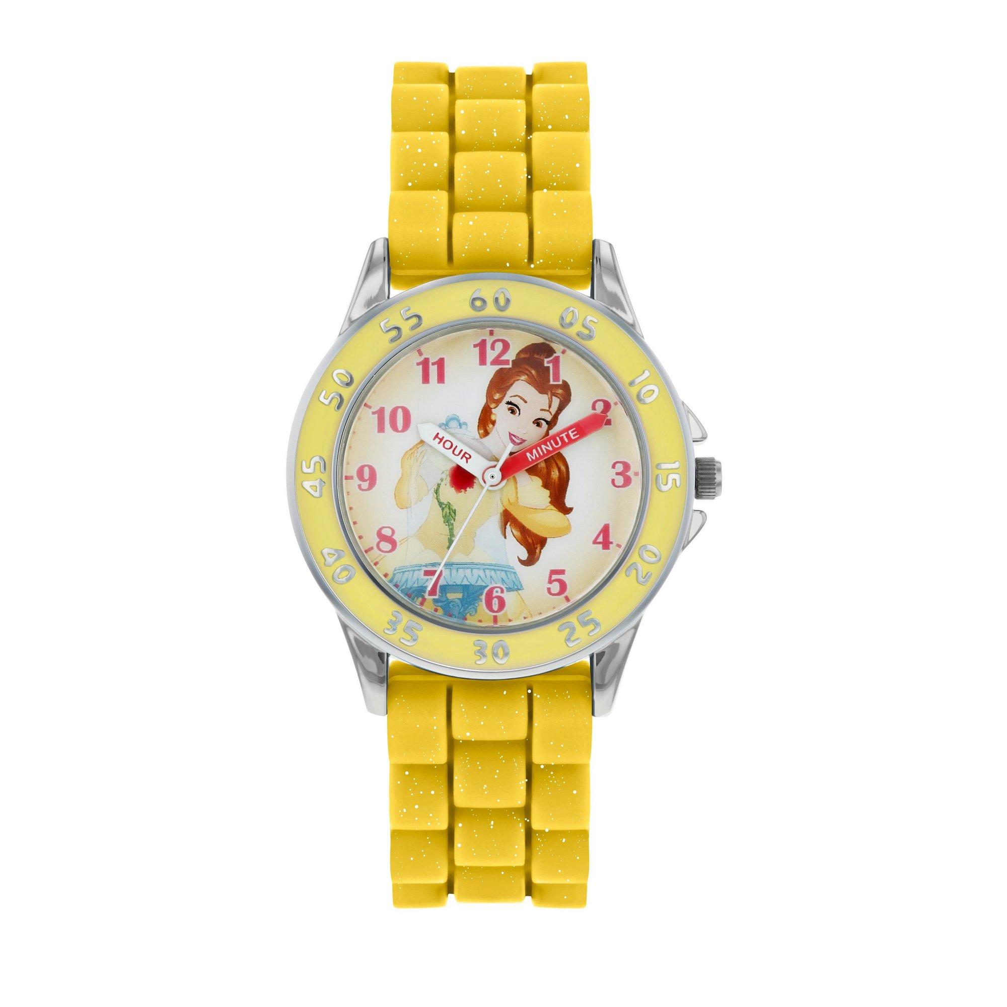 disney princess belle silicone strap watch