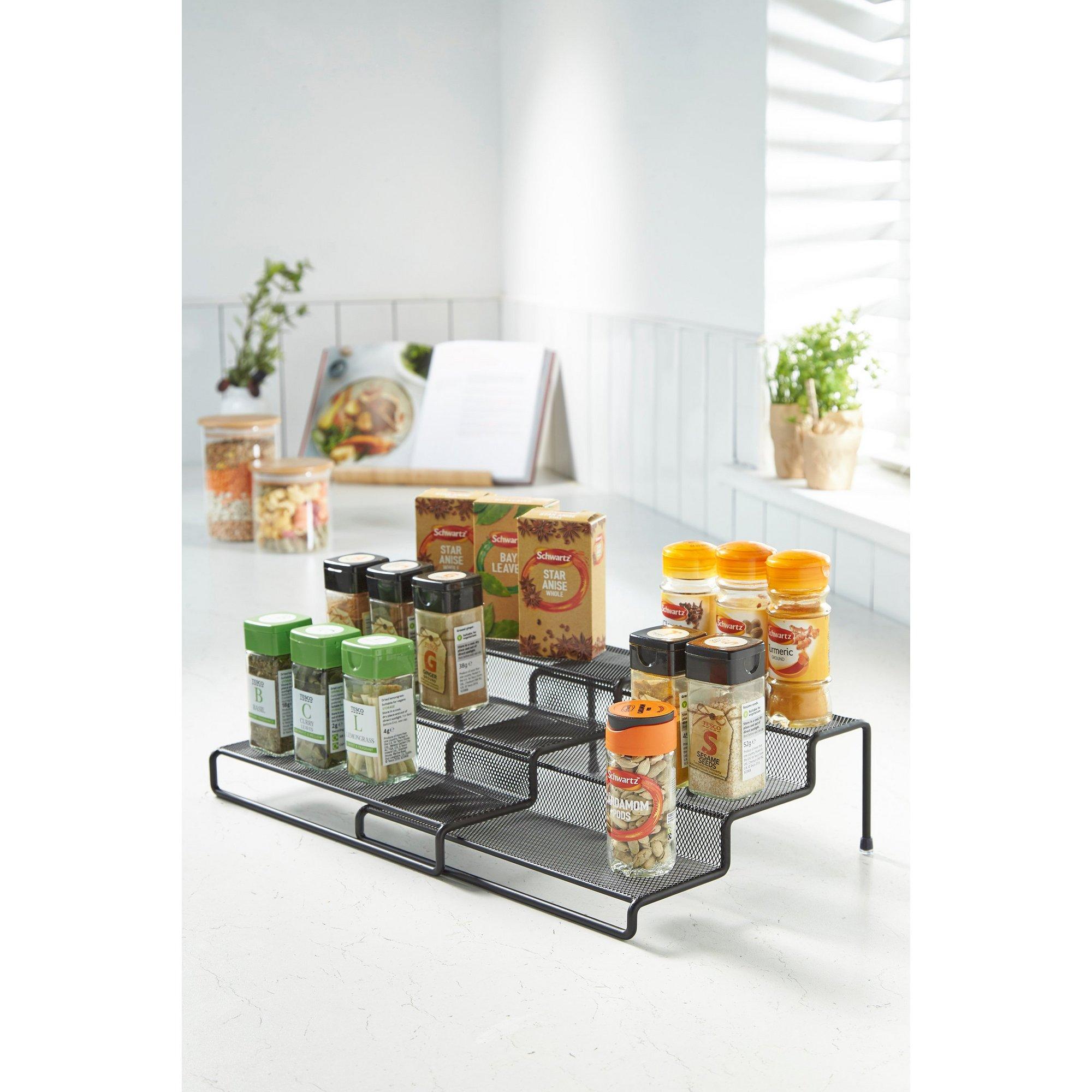 Image of Black Metal Expandable Shelf Organiser