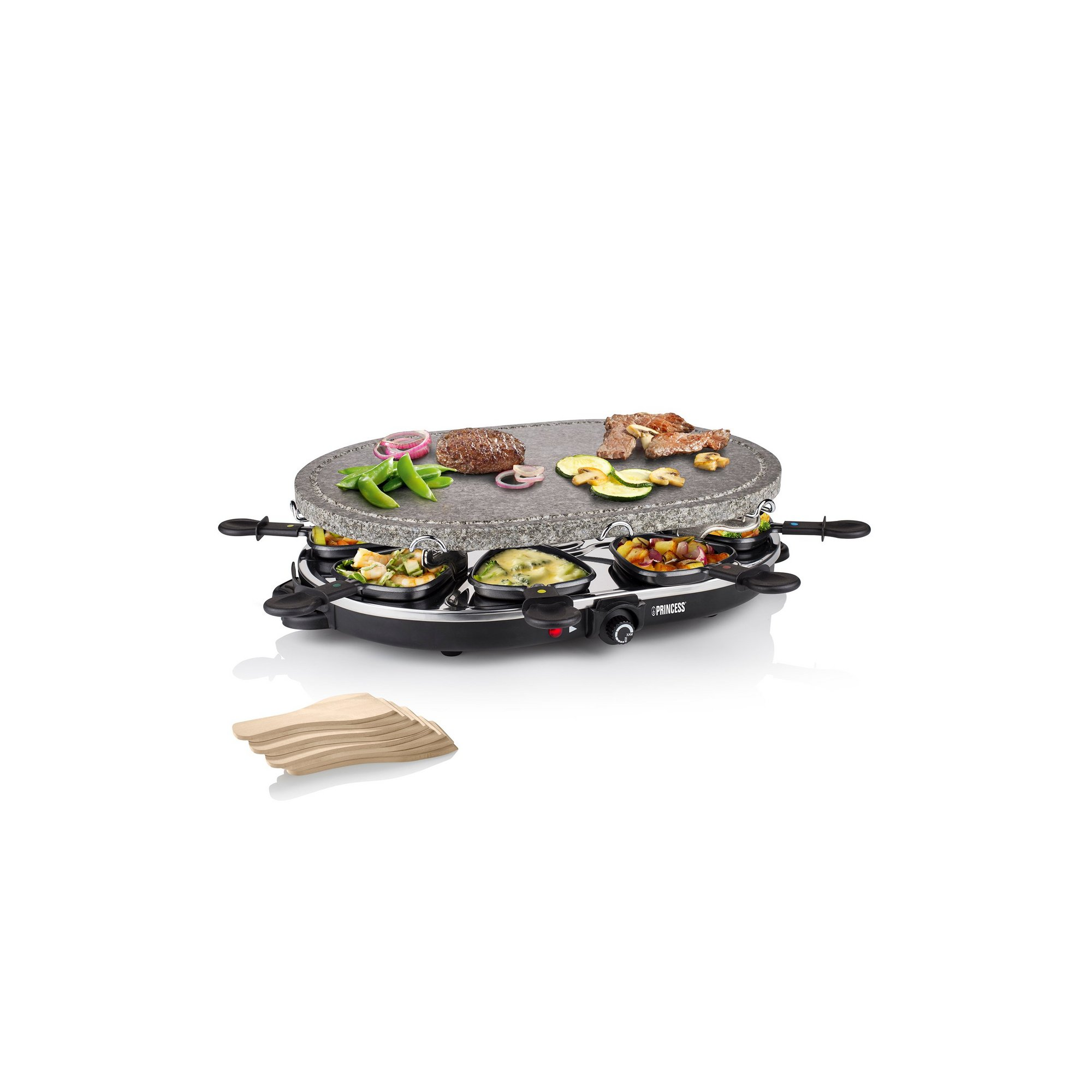 Image of Princess Raclette 8 Oval Stone Grill Party