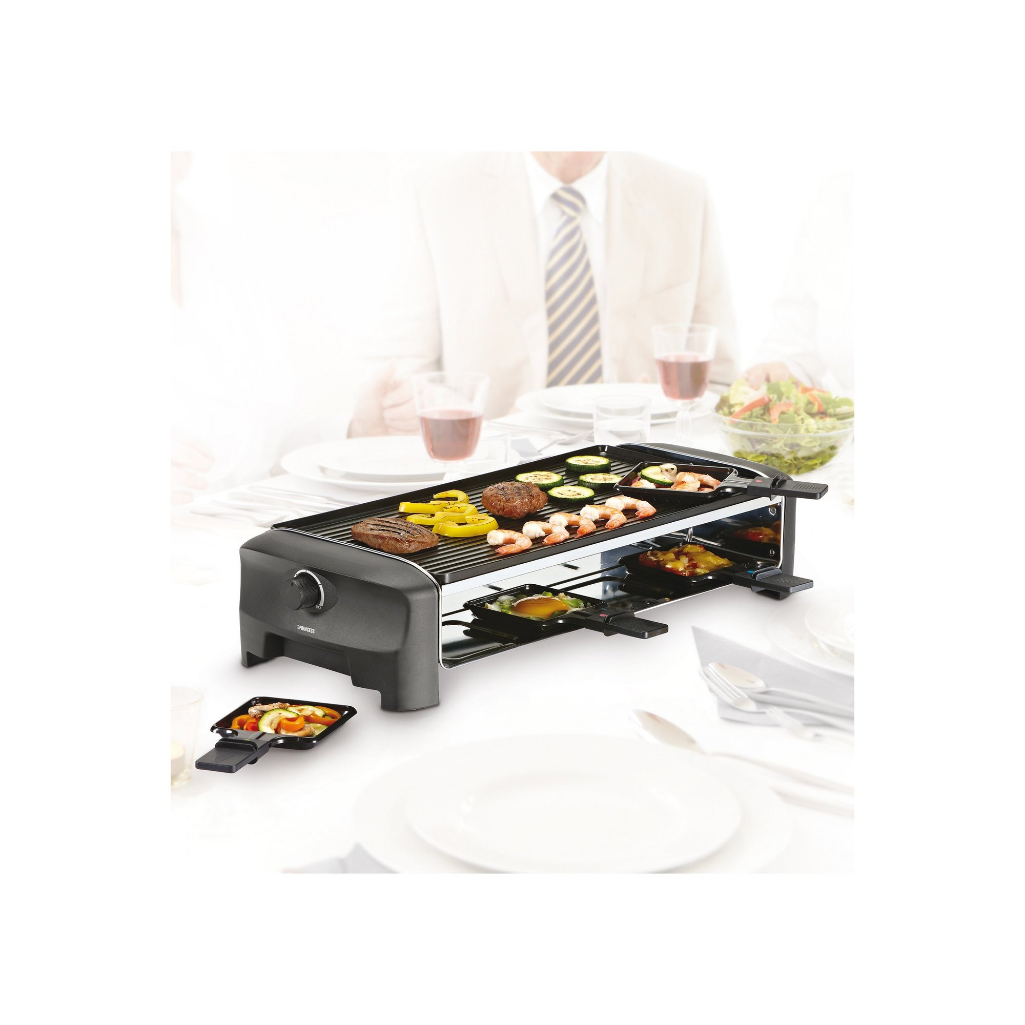 Image of Princess Raclette 8 Person Oval Stone and Teppanyaki Party