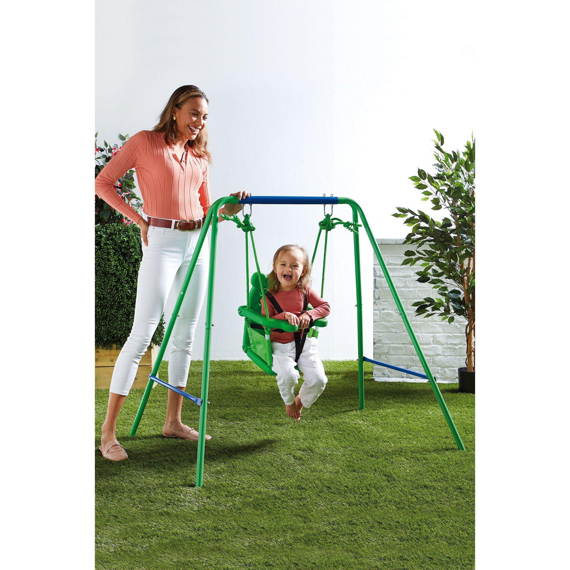 Image of Nursery Swing with Fabric Seat