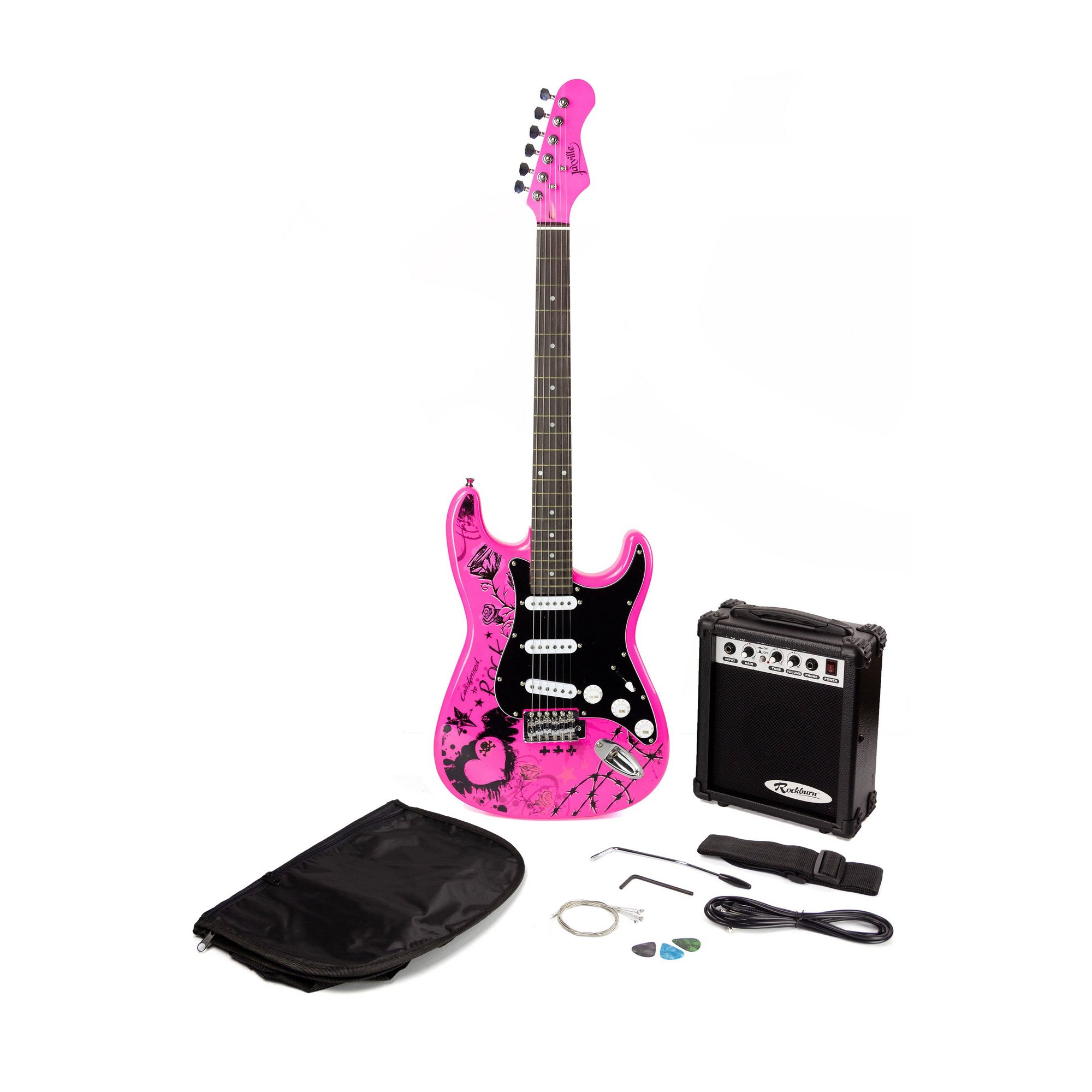 Image of Jaxville Electric Guitar Package - Pink Punk