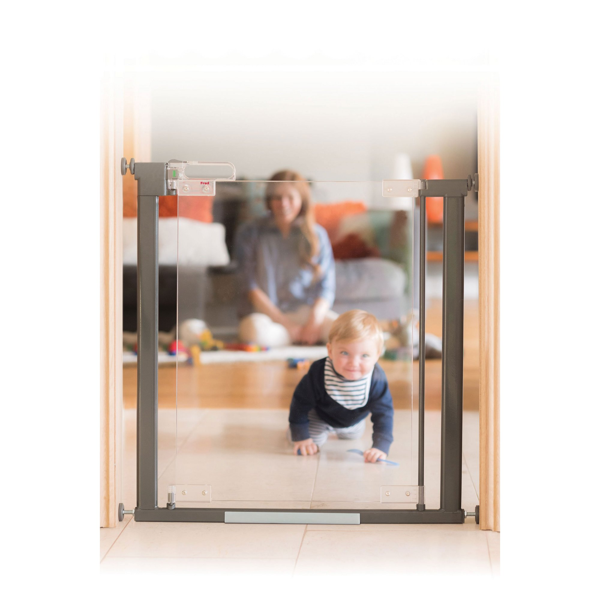 Image of Fred Pressure Fit Clear-View Stair Gate