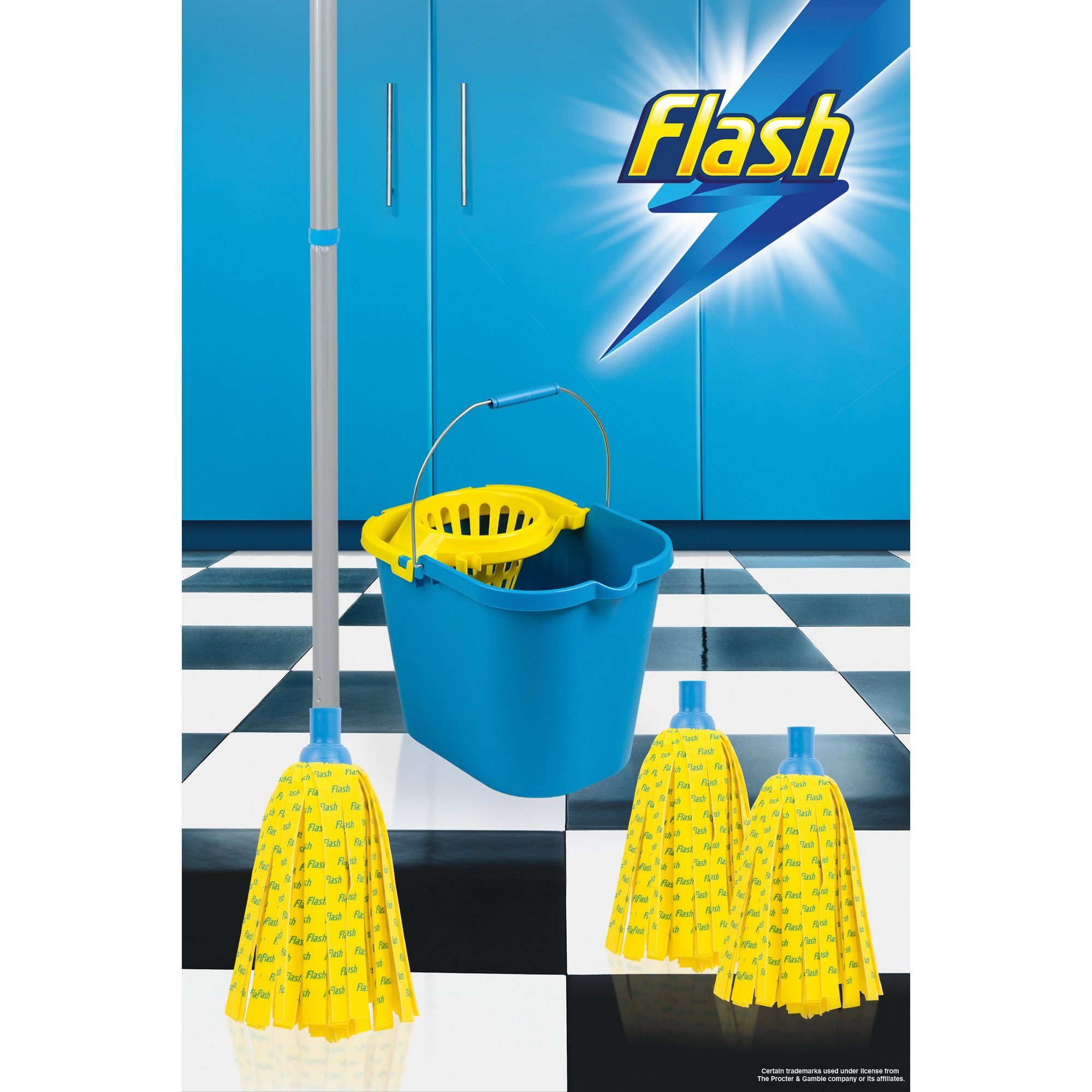 Image of Flash 30 Percent Microfibre Mop Set