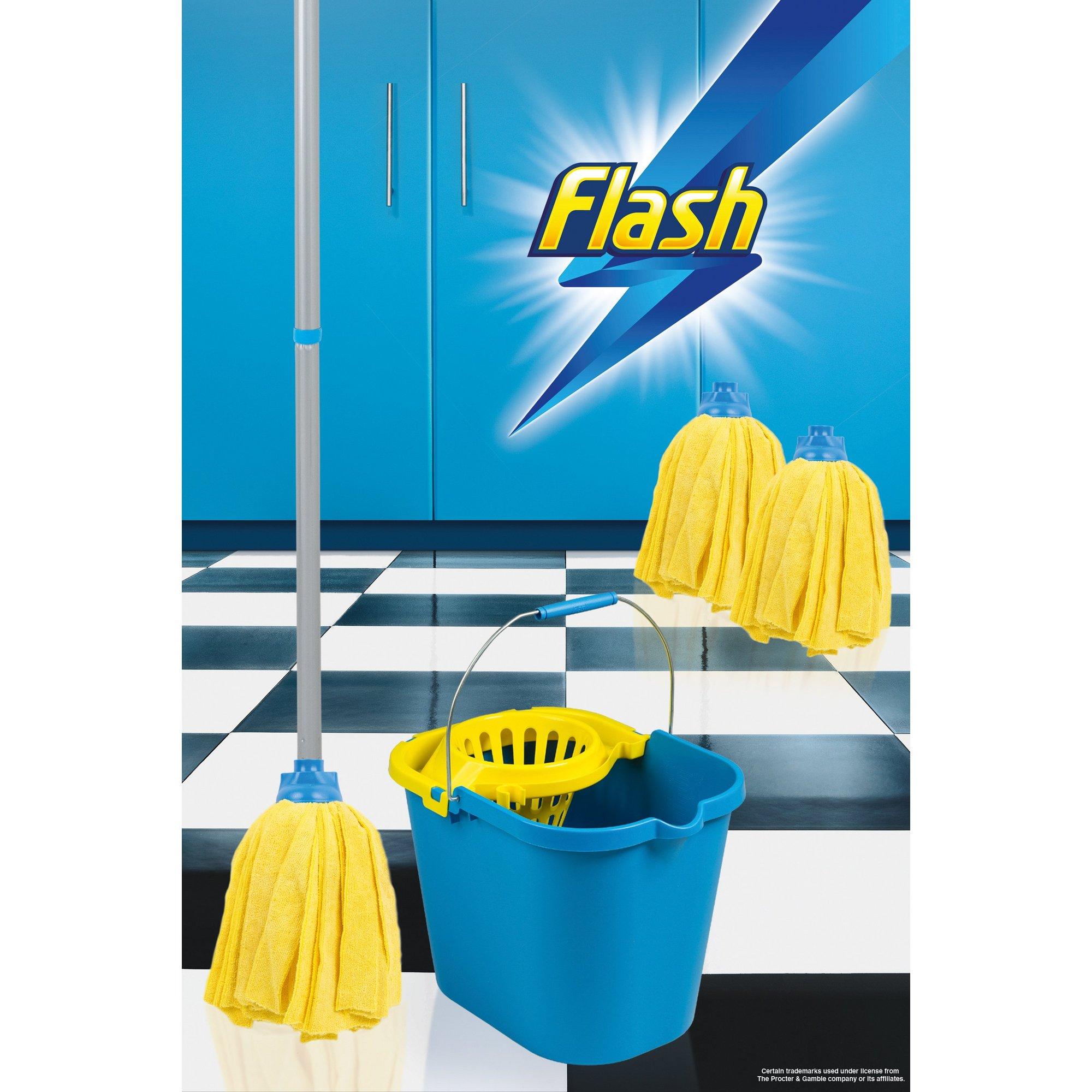 Image of Flash 100 Percent Microfibre Mop Set