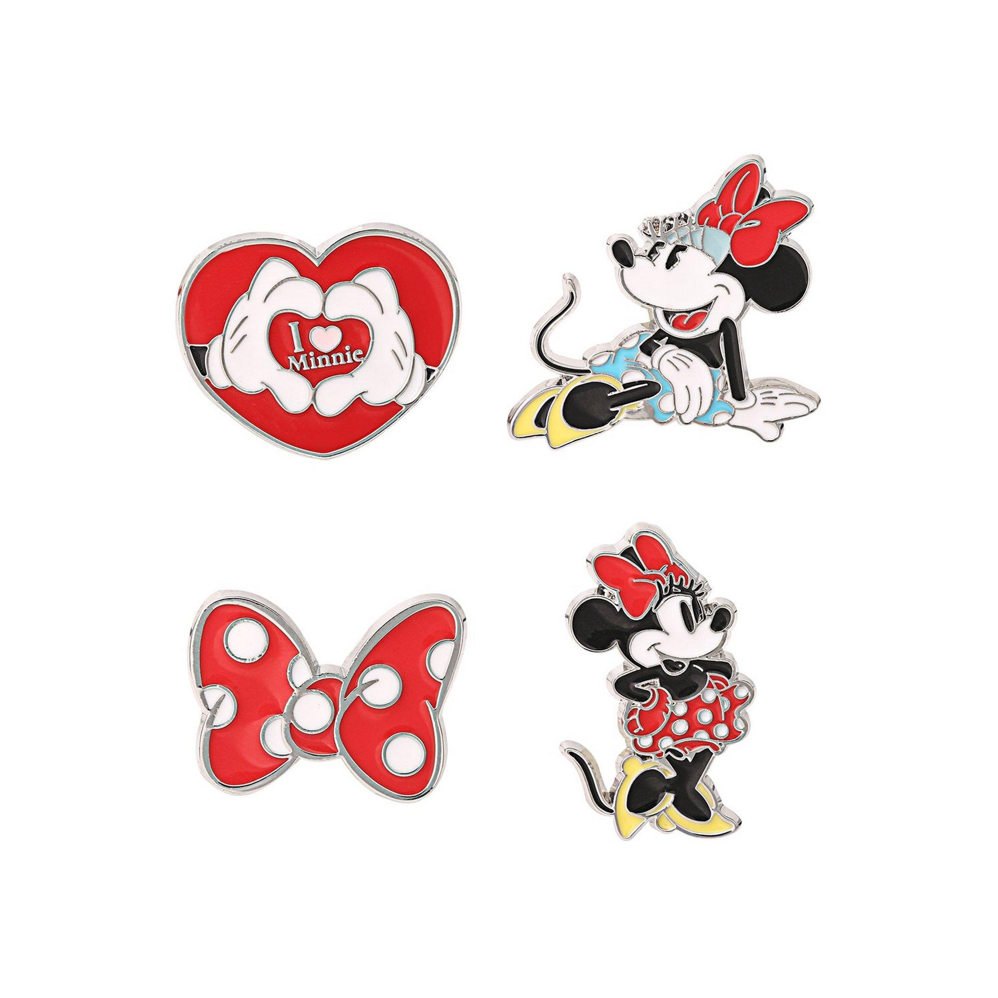 Image of Disney Mickey and Minnie Pin Badge Set