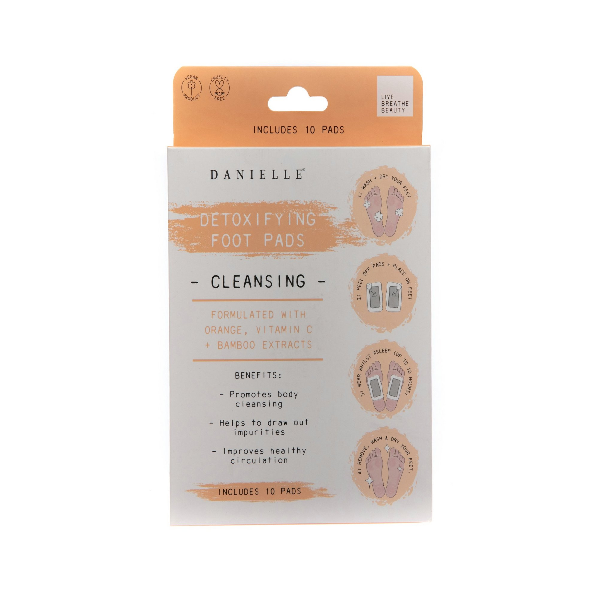 Image of Danielle Creations Cleansing Orange Detoxifying Foot Pads