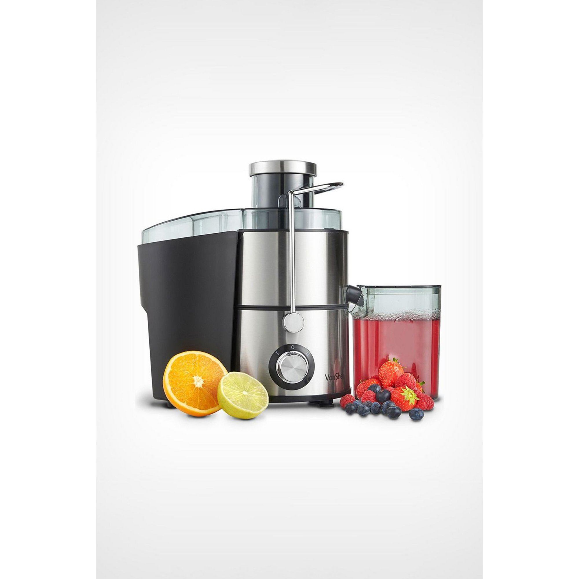 Image of VonShef 400W Stainless Steel Juicer