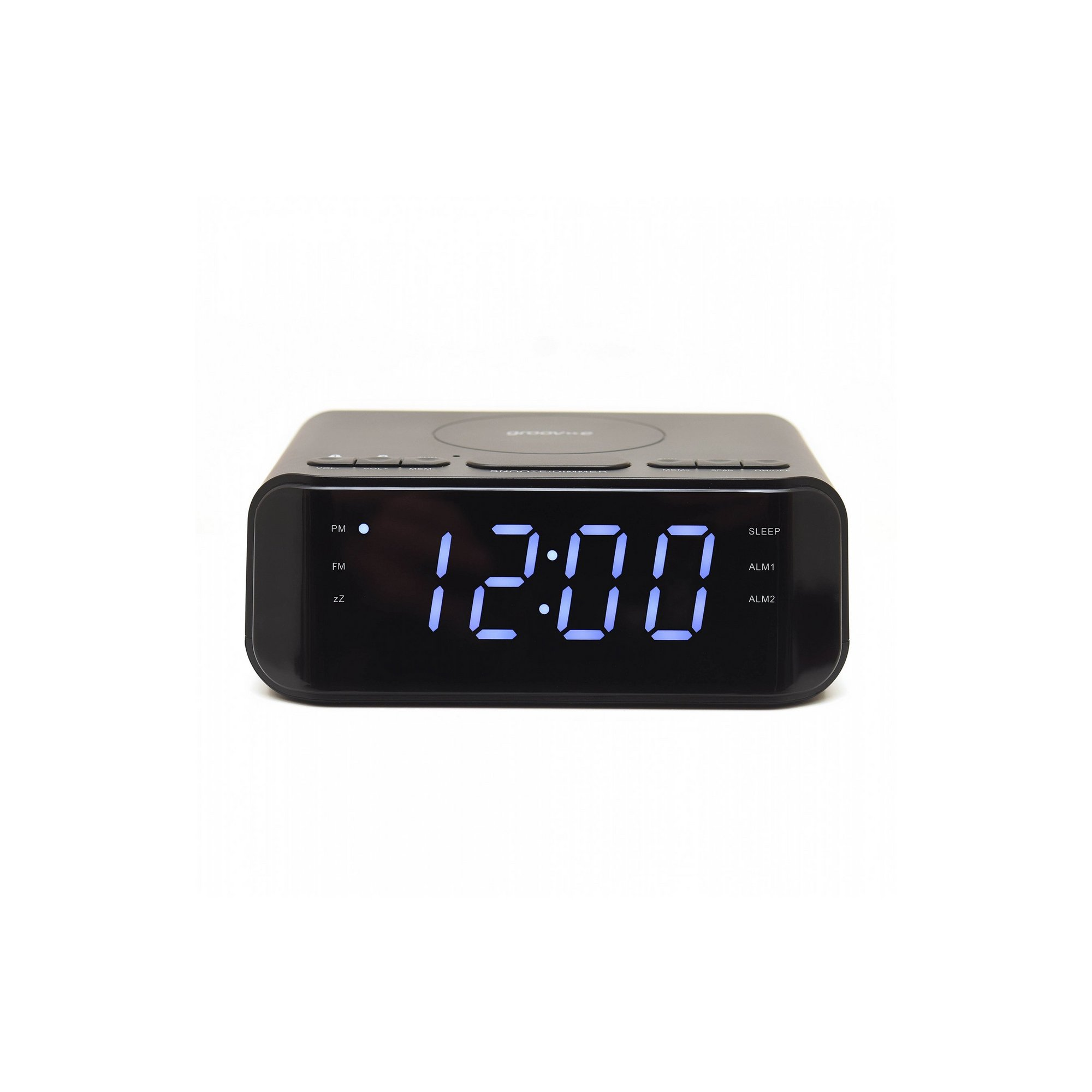 Image of Groov-e Atlas Alarm Clock Radio with USB and Wireless Charging
