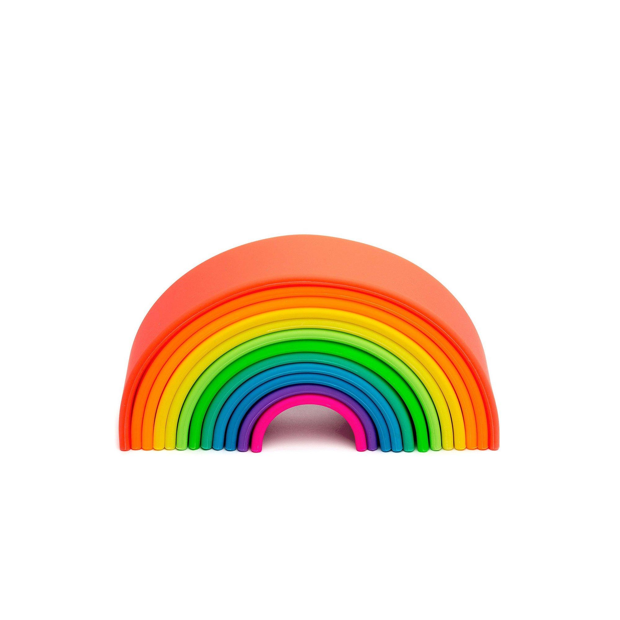 Image of Dena 12 Piece Silicone Rainbow Toy
