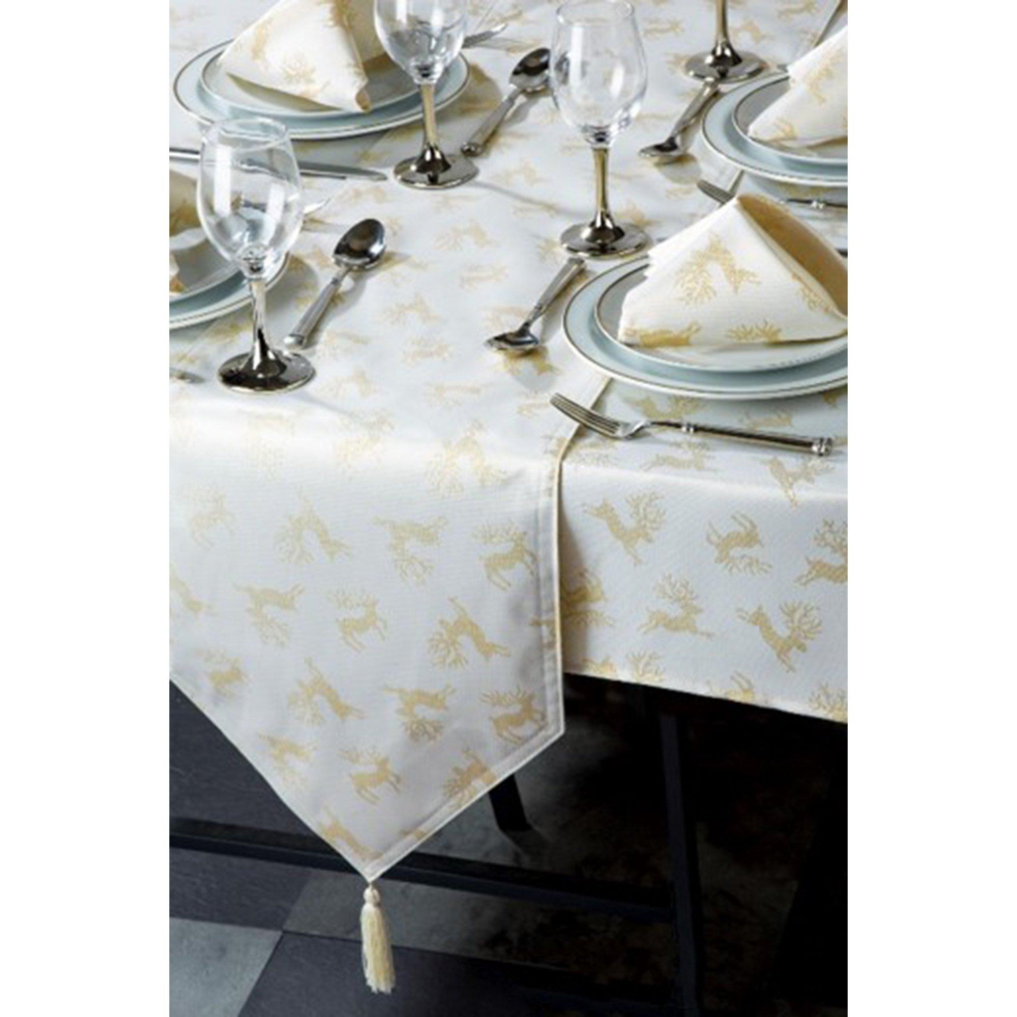Image of 10 Piece Reindeer Table Linen Set