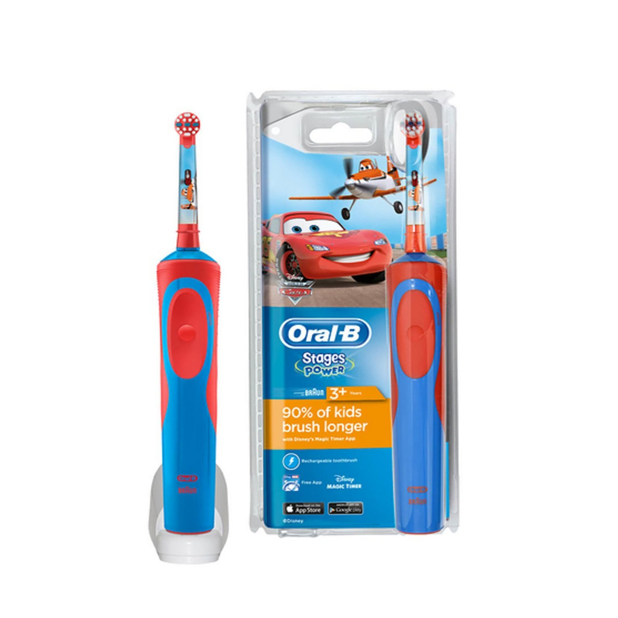 Image of Oral B Disney Cars Kids Rechargeable Toothbrush