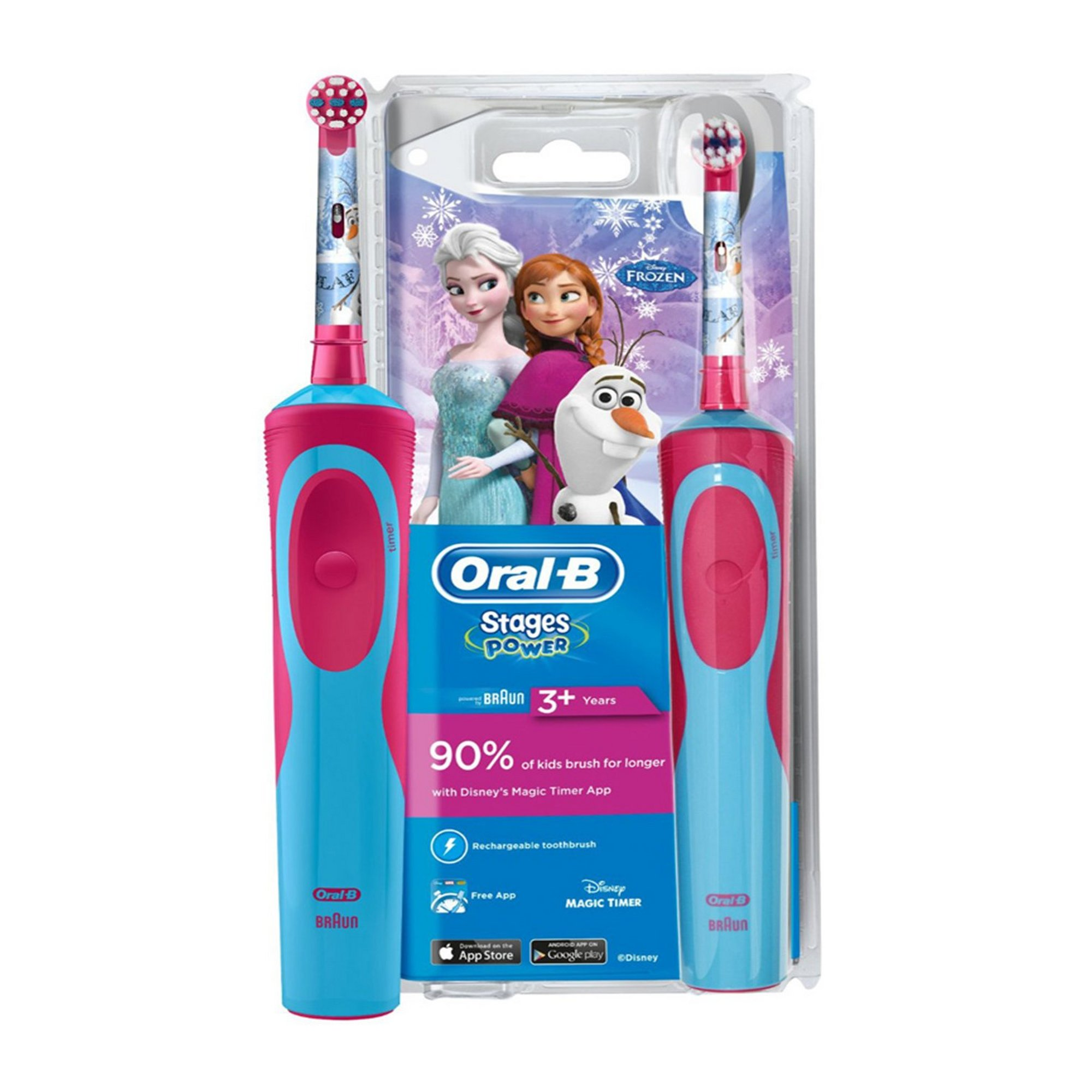 Image of Oral B Disney Frozen Kids Rechargeable Toothbrush