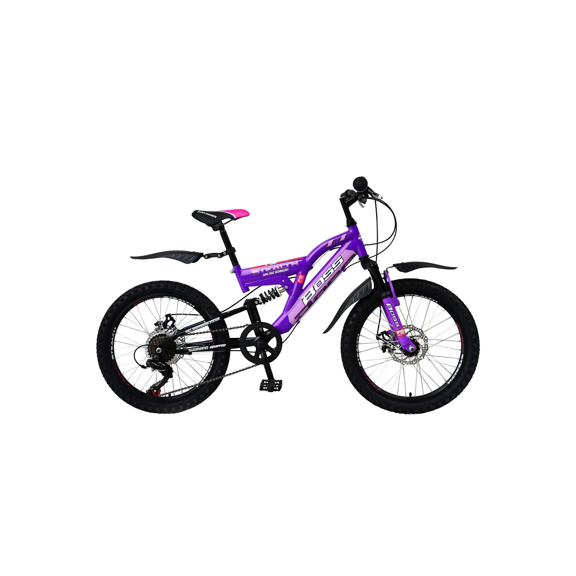 Image of Boss Stealth 20 Inch Purple Mountain Bike