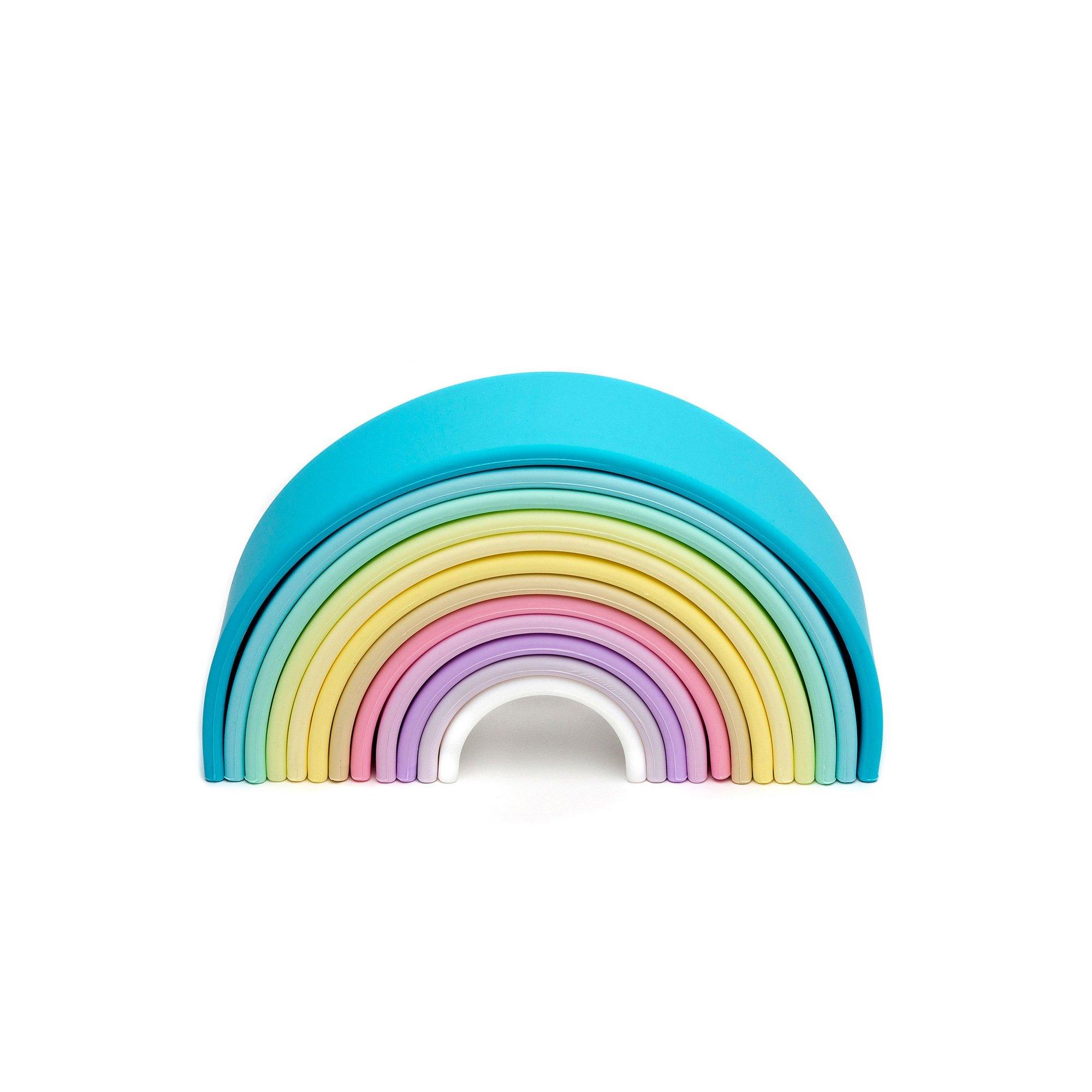 Image of Dena 12 Piece Silicone Rainbow Toy - Pastel