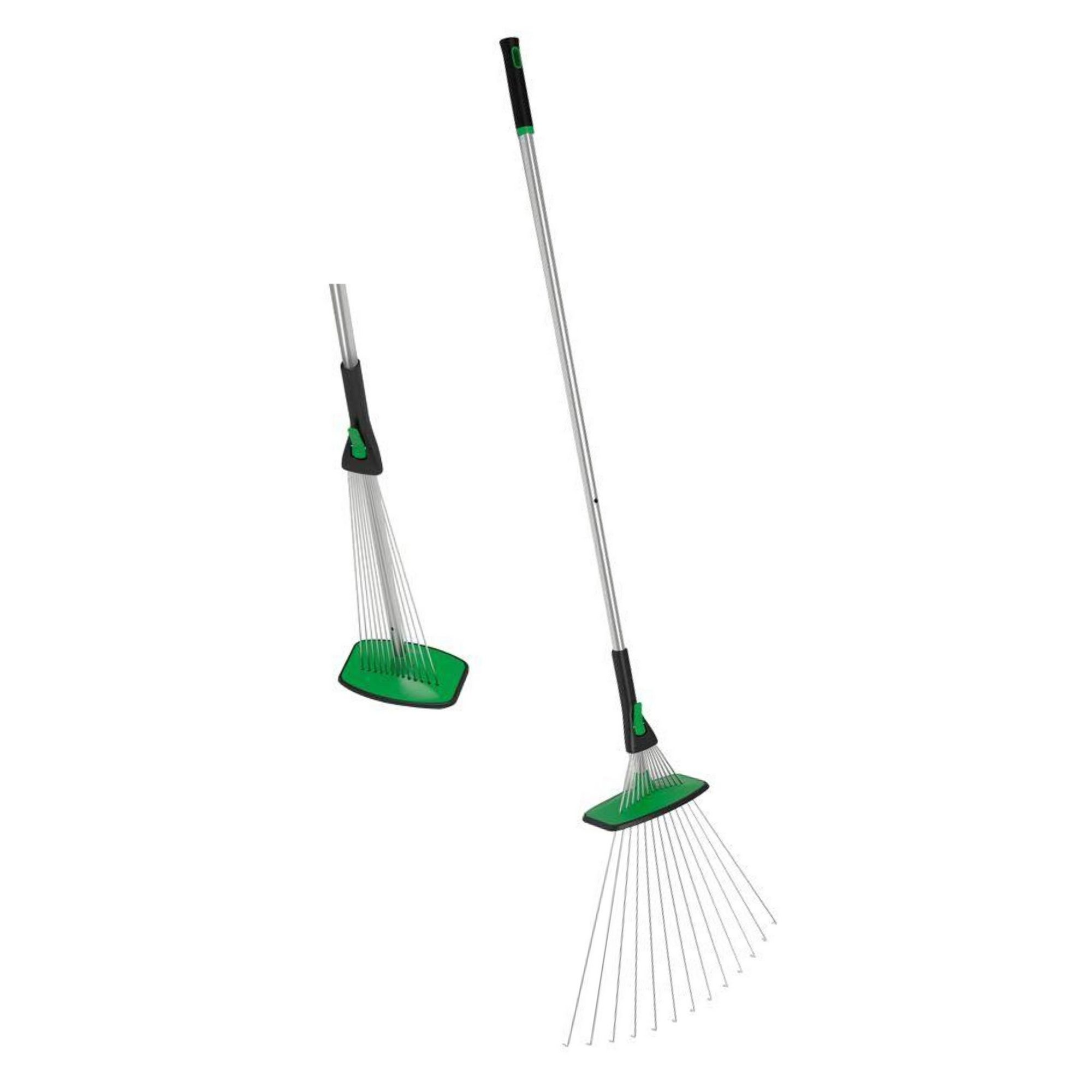 Image of Freestanding Garden Retractable Rake N Tamp
