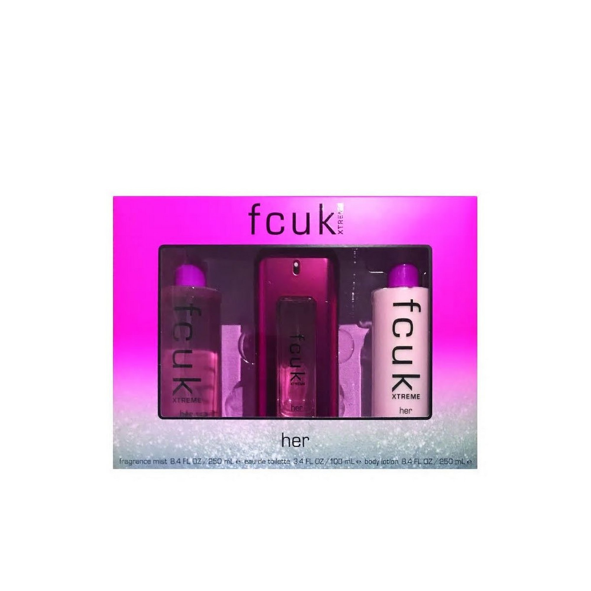 Image of FCUK Extreme Her 100ml EDT Gift Set