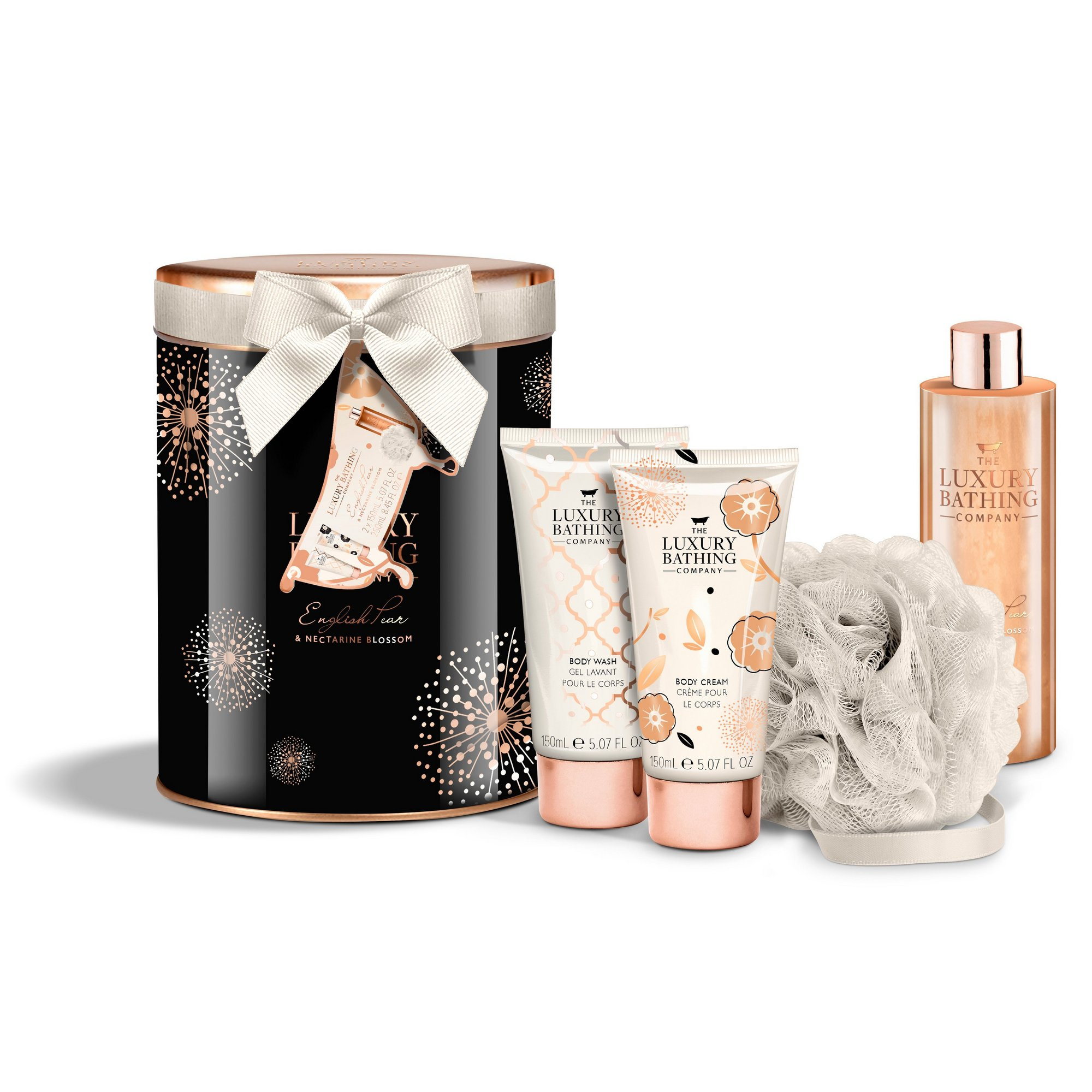 Image of Grace Cole Luxury Bathing Collection English Pear and Nectarine B...