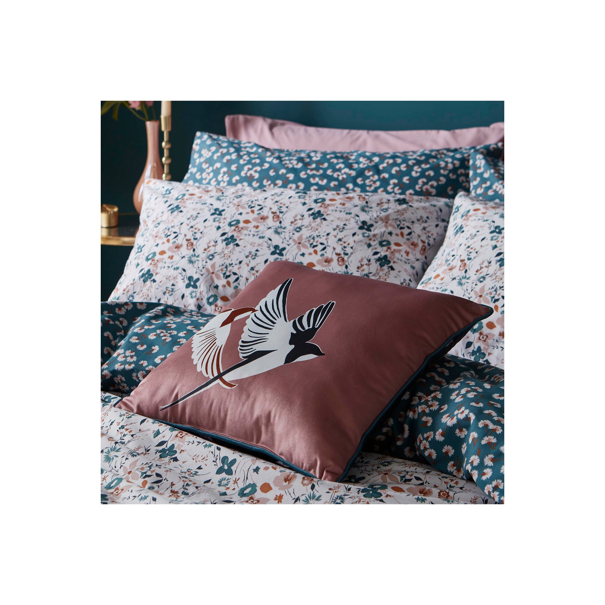 Image of Fat Face Silhouette Bird Filled Cushion