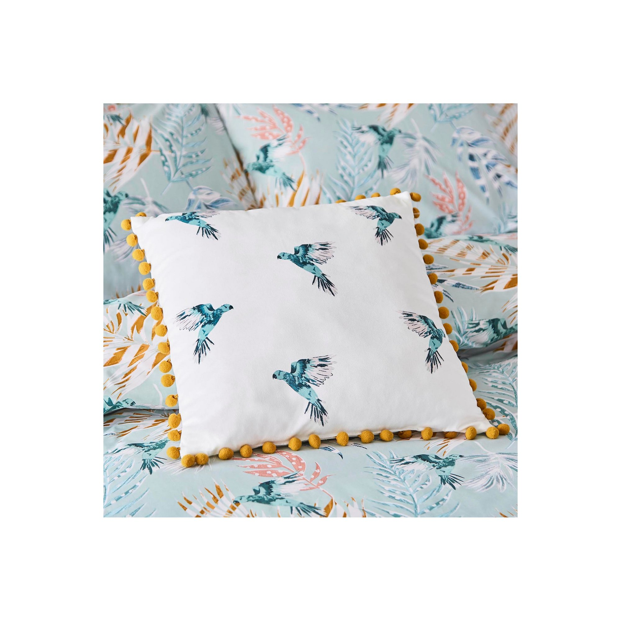 Image of Fat Face Paradise Parrot Filled Cushion