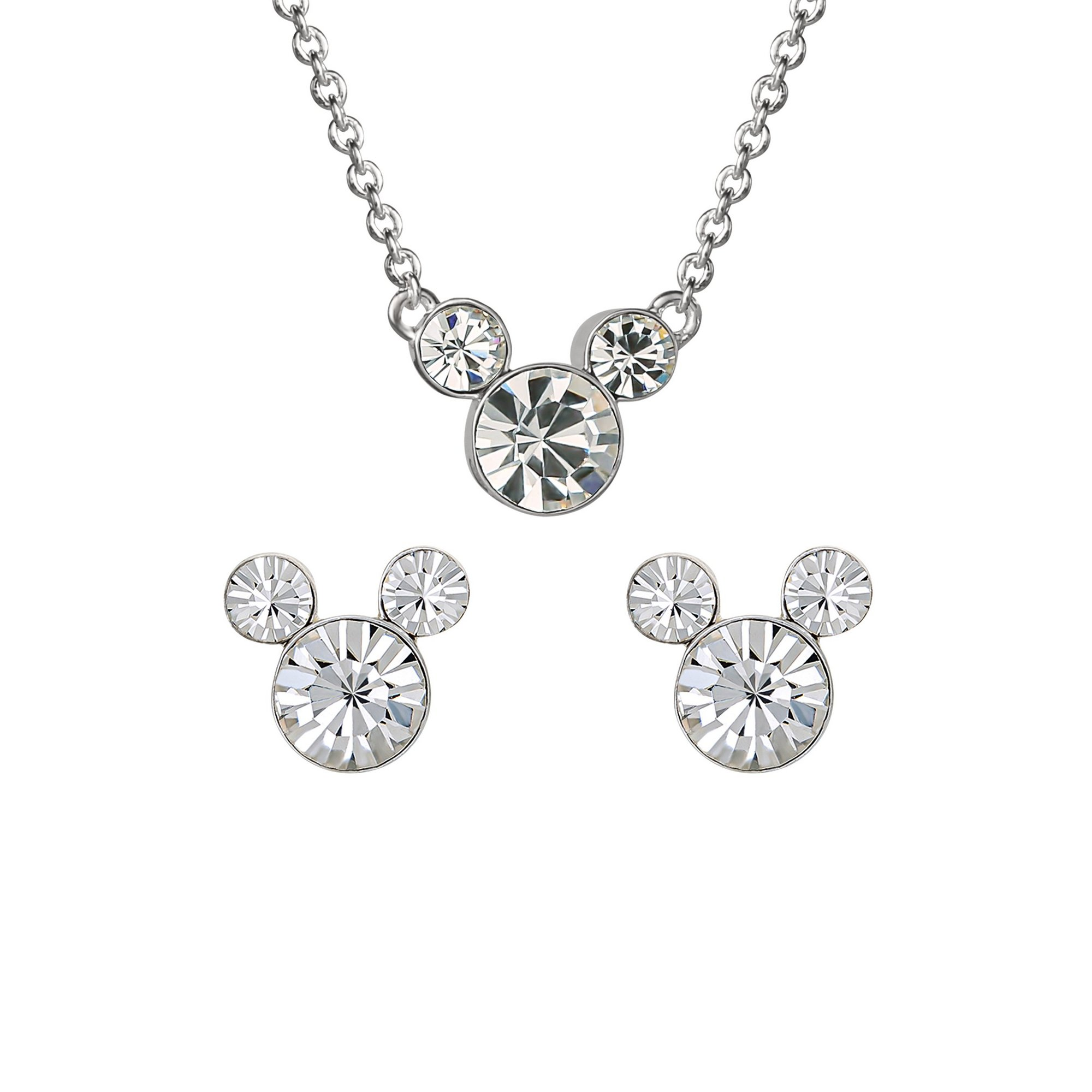 Image of Disney Mickey Mouse April Birthstone Earring and Necklace Gift Set