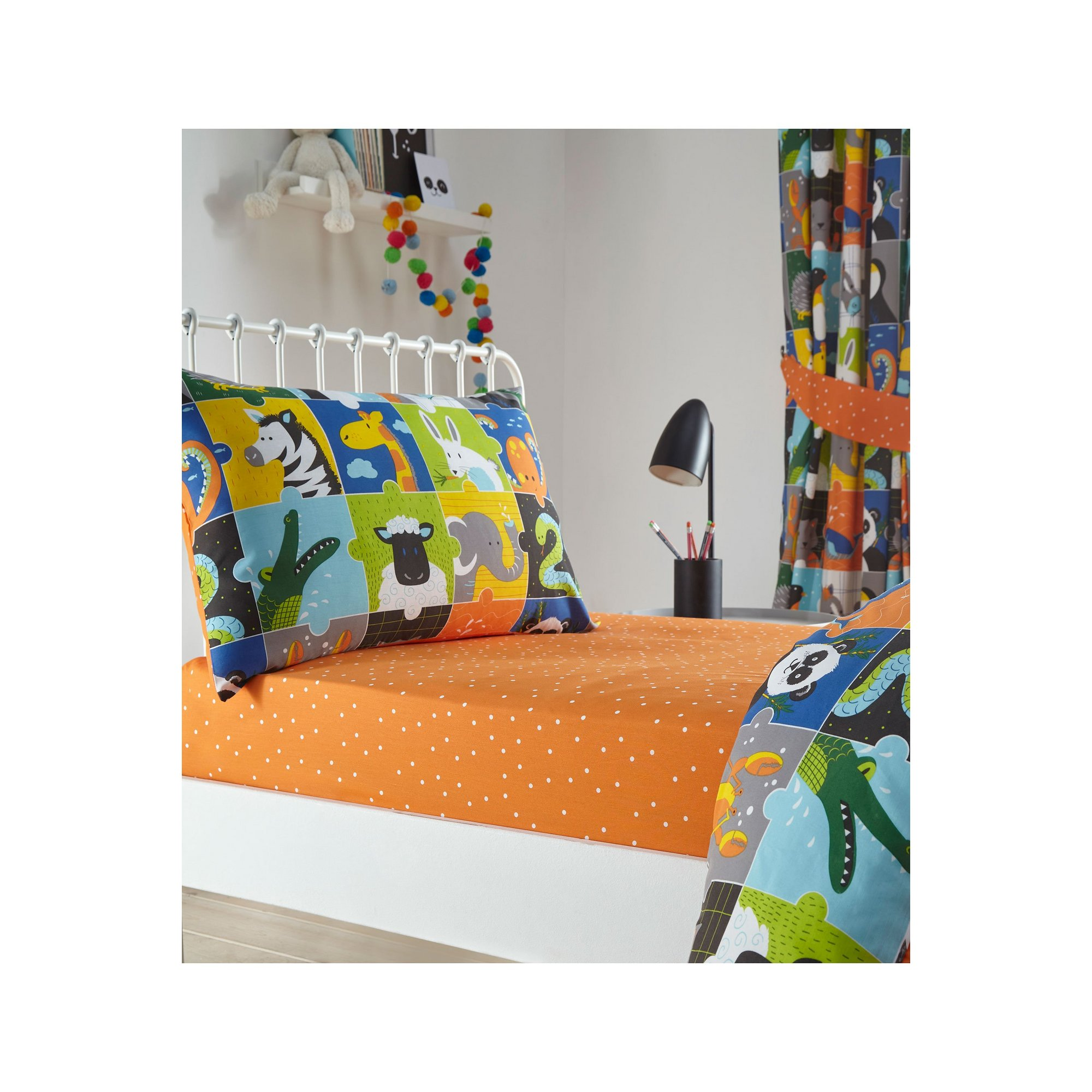 Image of Animal Jigsaw Fitted Sheet