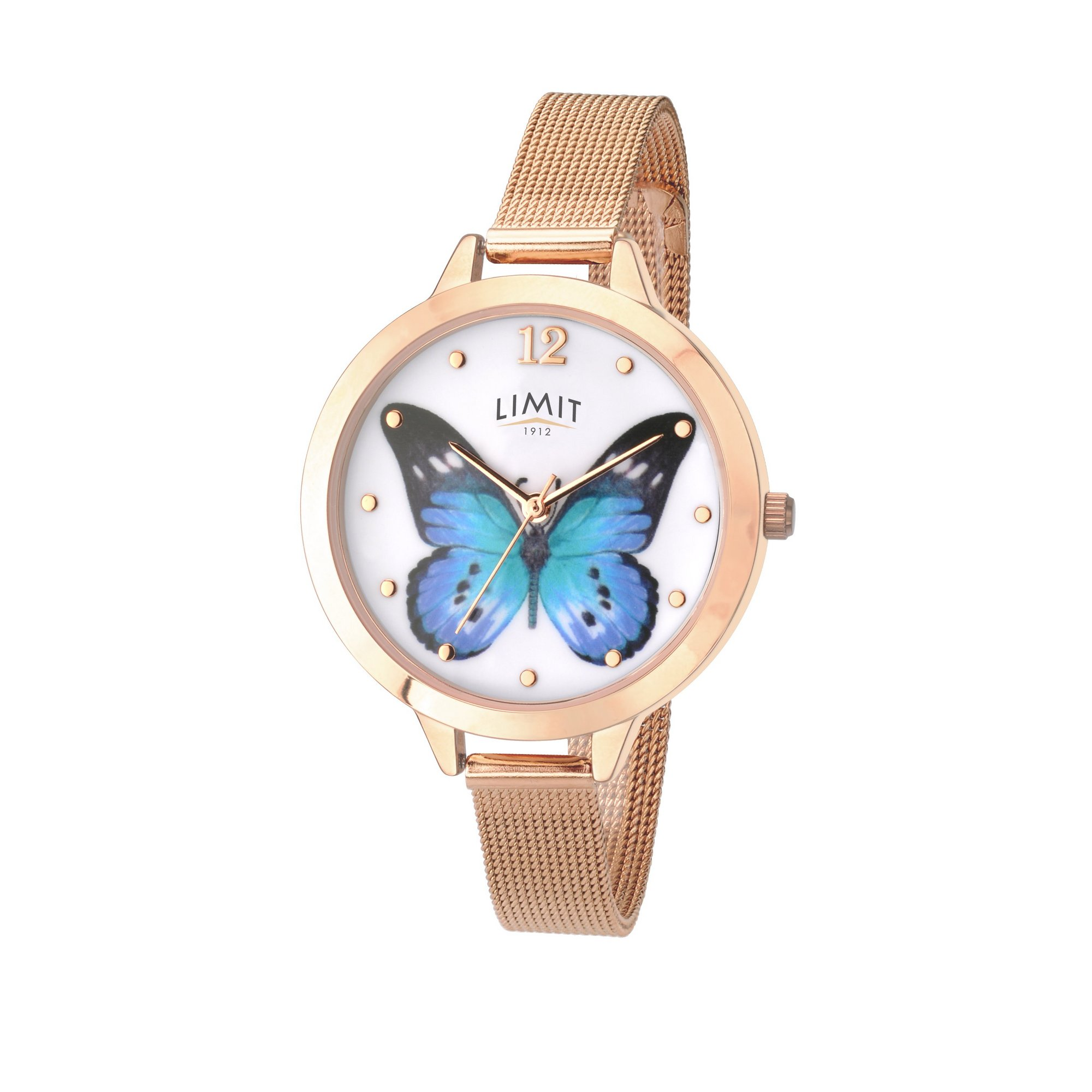Image of Limit Ladies Rose Gold Plated Mesh Bracelet Watch