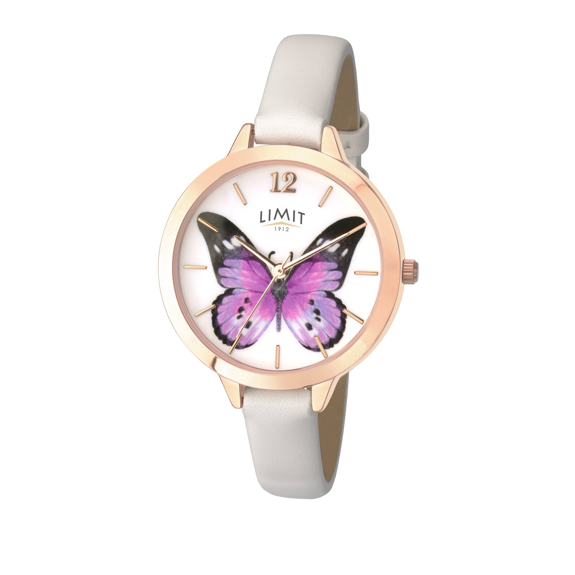 Image of Limit Ladies Gold Plated Leather Strap Watch