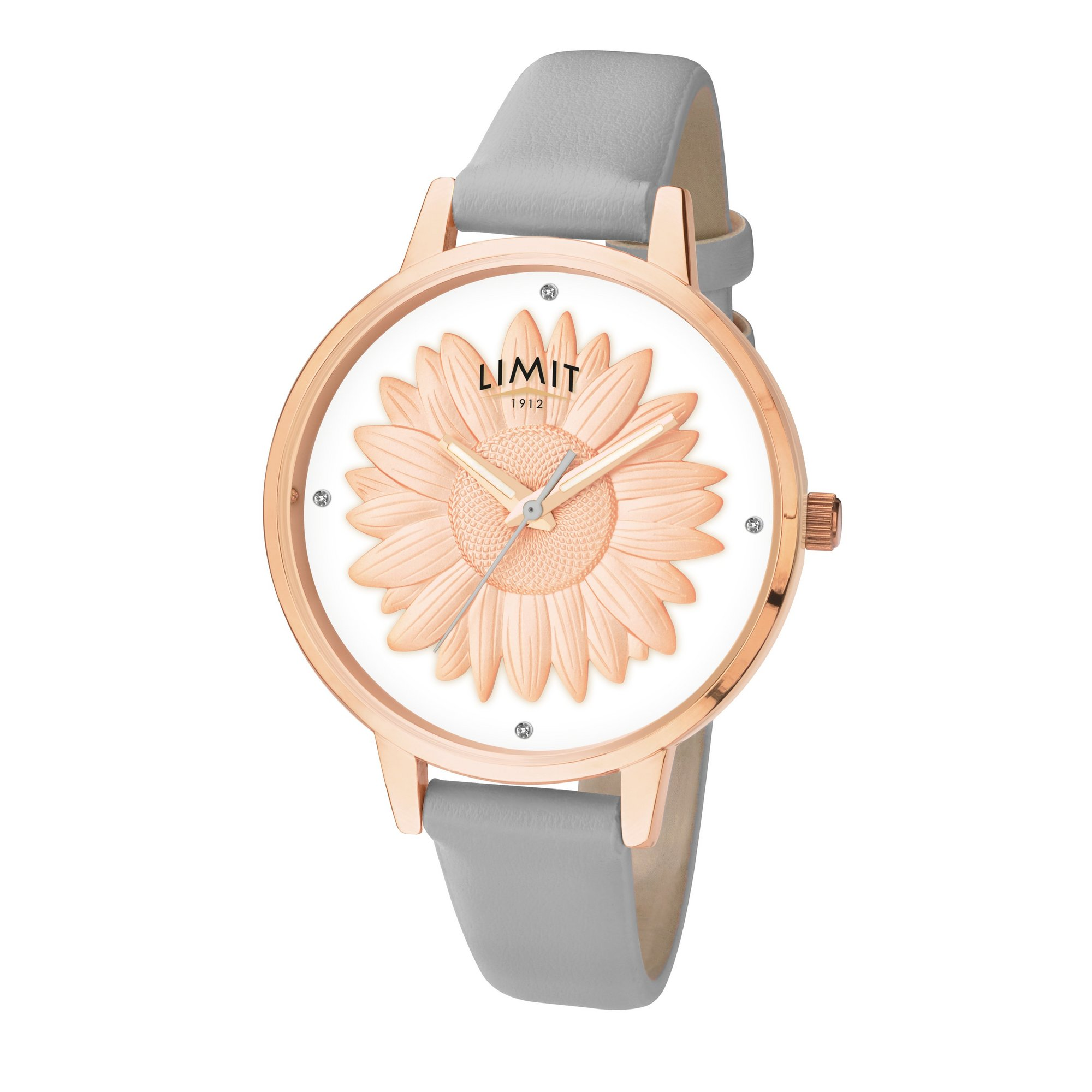 Image of Limit Ladies Rose Gold Plated Leather Strap Watch