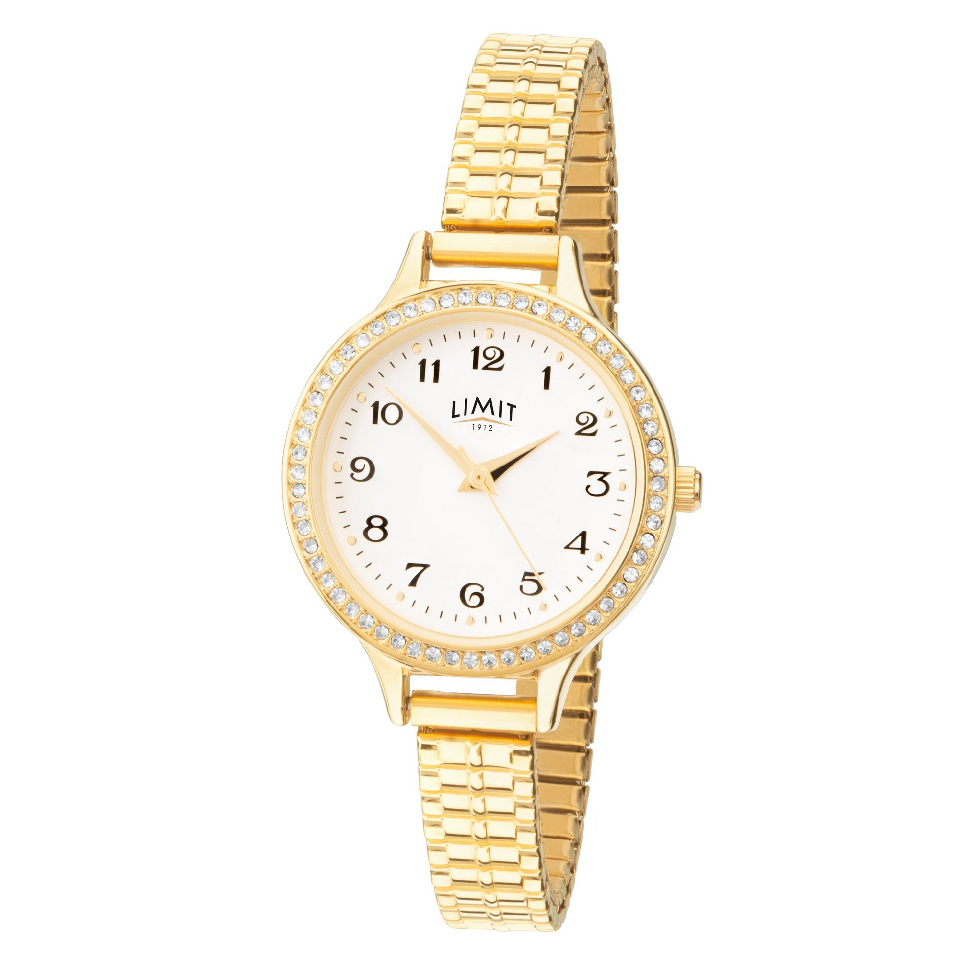 Image of Limit Ladies Gold Plated Expander Bracelet Watch