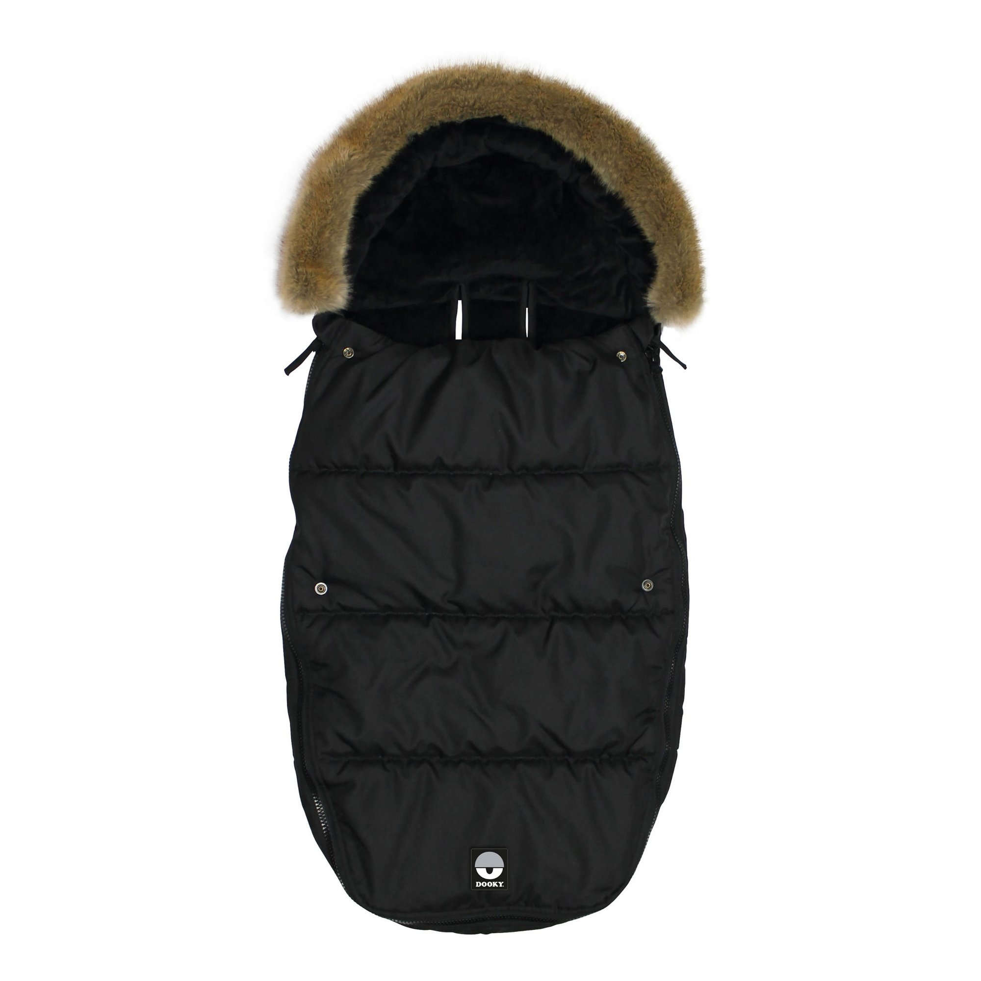 Image of Dooky Footmuff Black with Fur Trim
