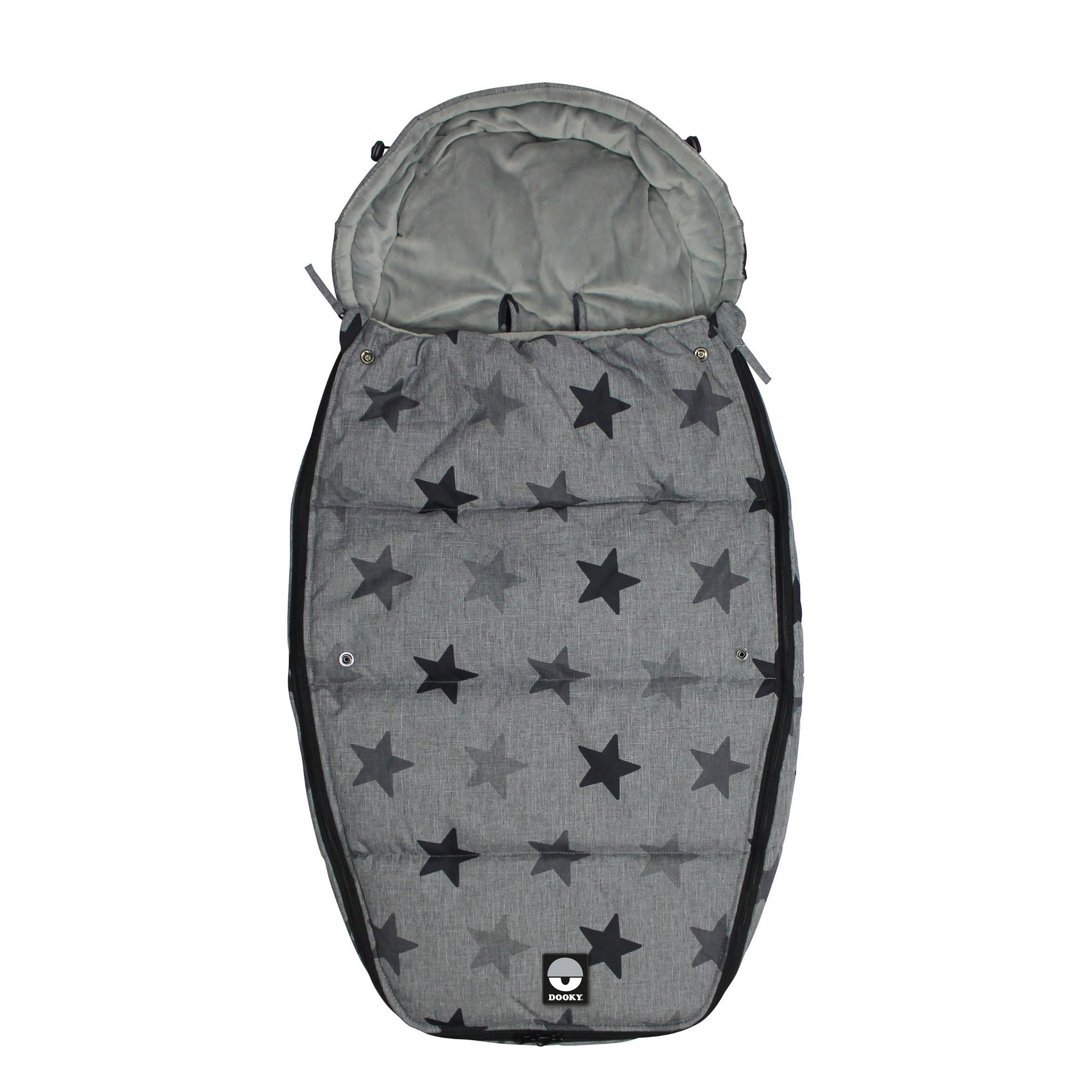 Image of Dooky Footmuff Grey Stars Large