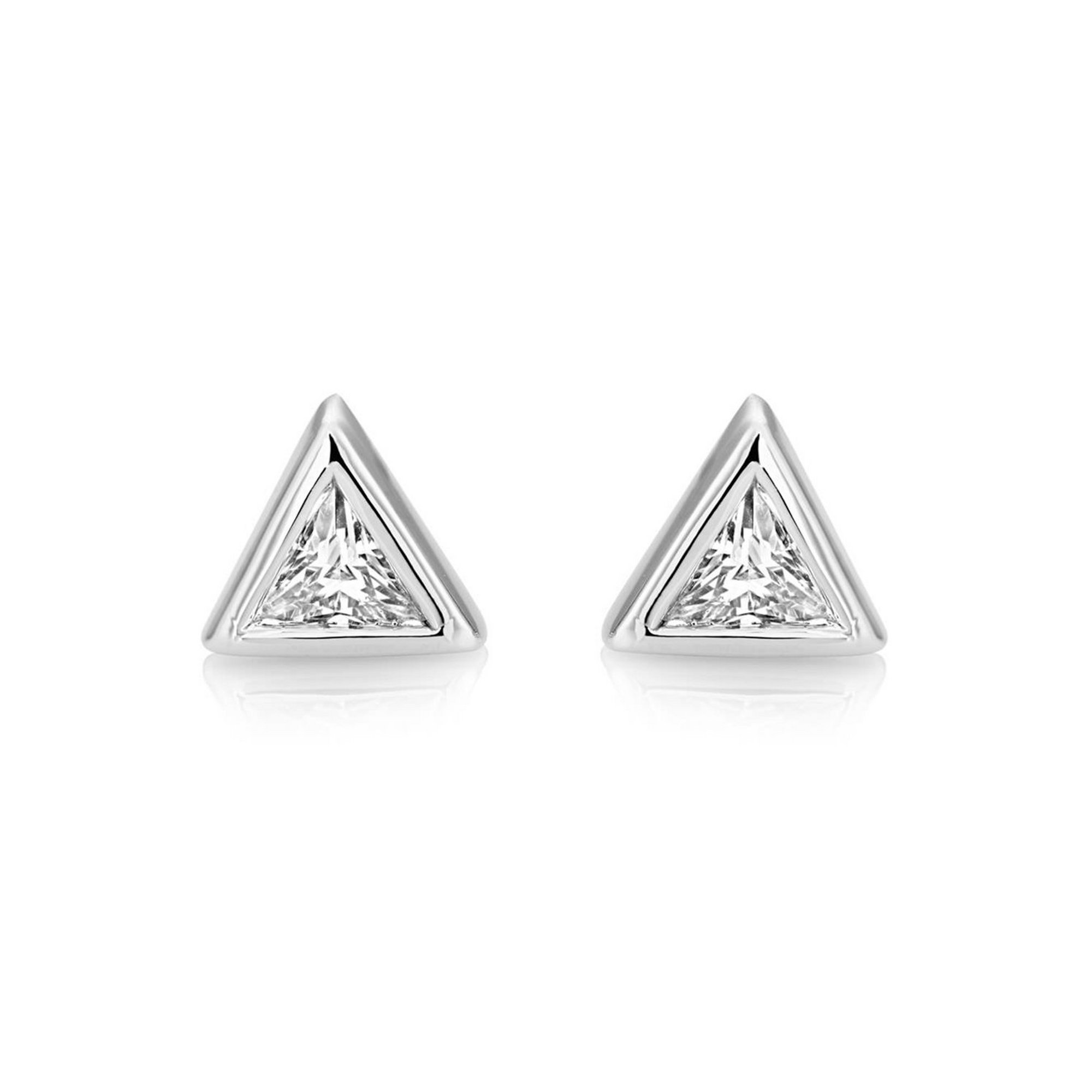 Image of Buckley London Central Trillion Stud Earrings