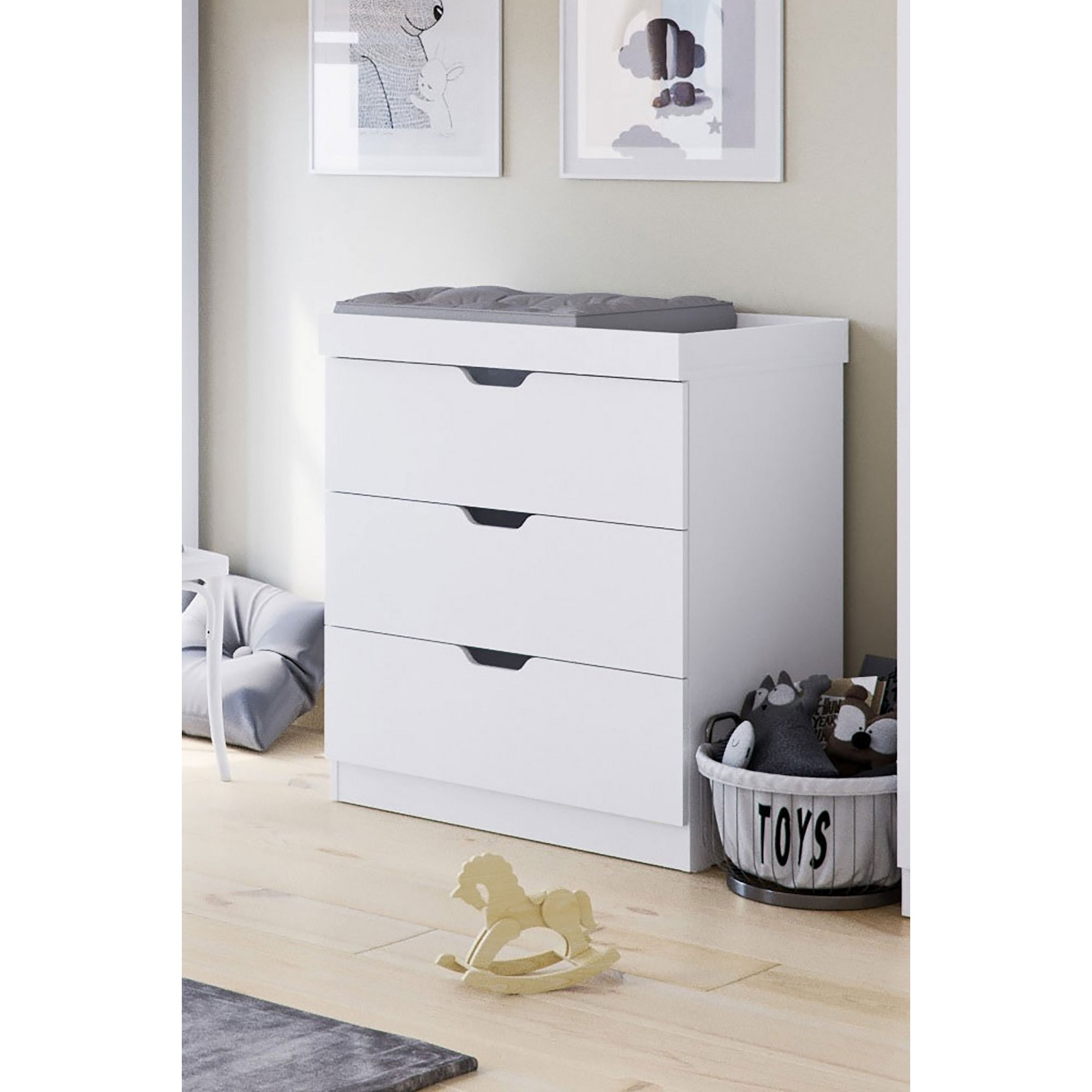 Image of Ickle Bubba Coleby White Chest of Drawers / Changer